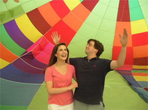 Happiness in a hot air balloon and seeing Cait and Sam so happy makes me happy