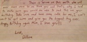 letter from my son