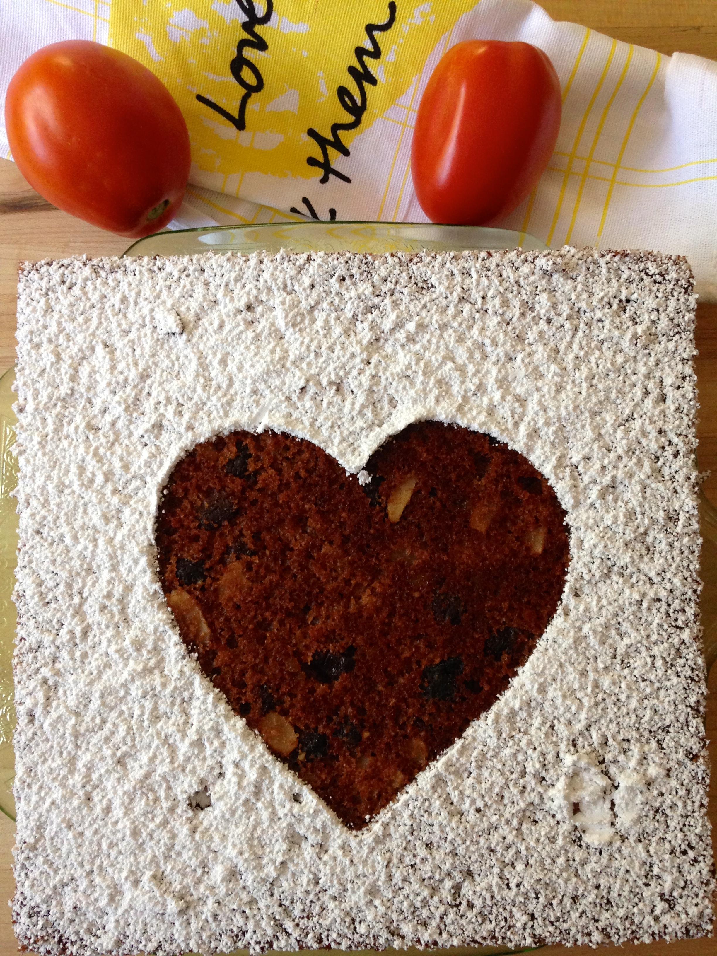 spirited fresh tomato cake