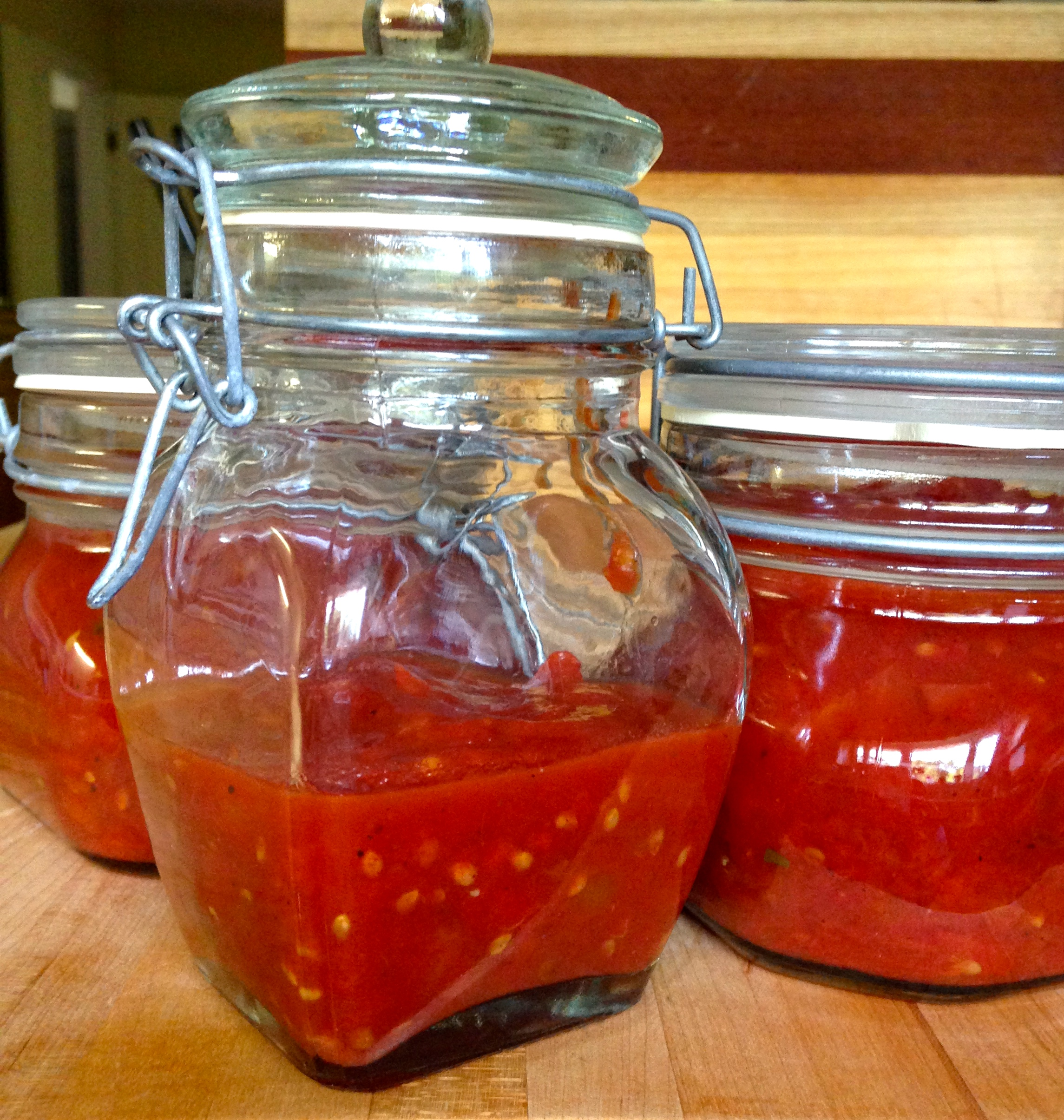 delicious all year long jars of tomato jam