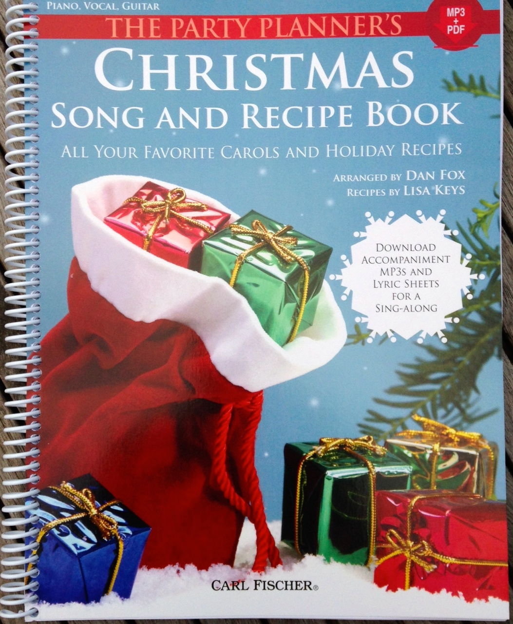 my recipes in the book Christmas Song and Recipe book