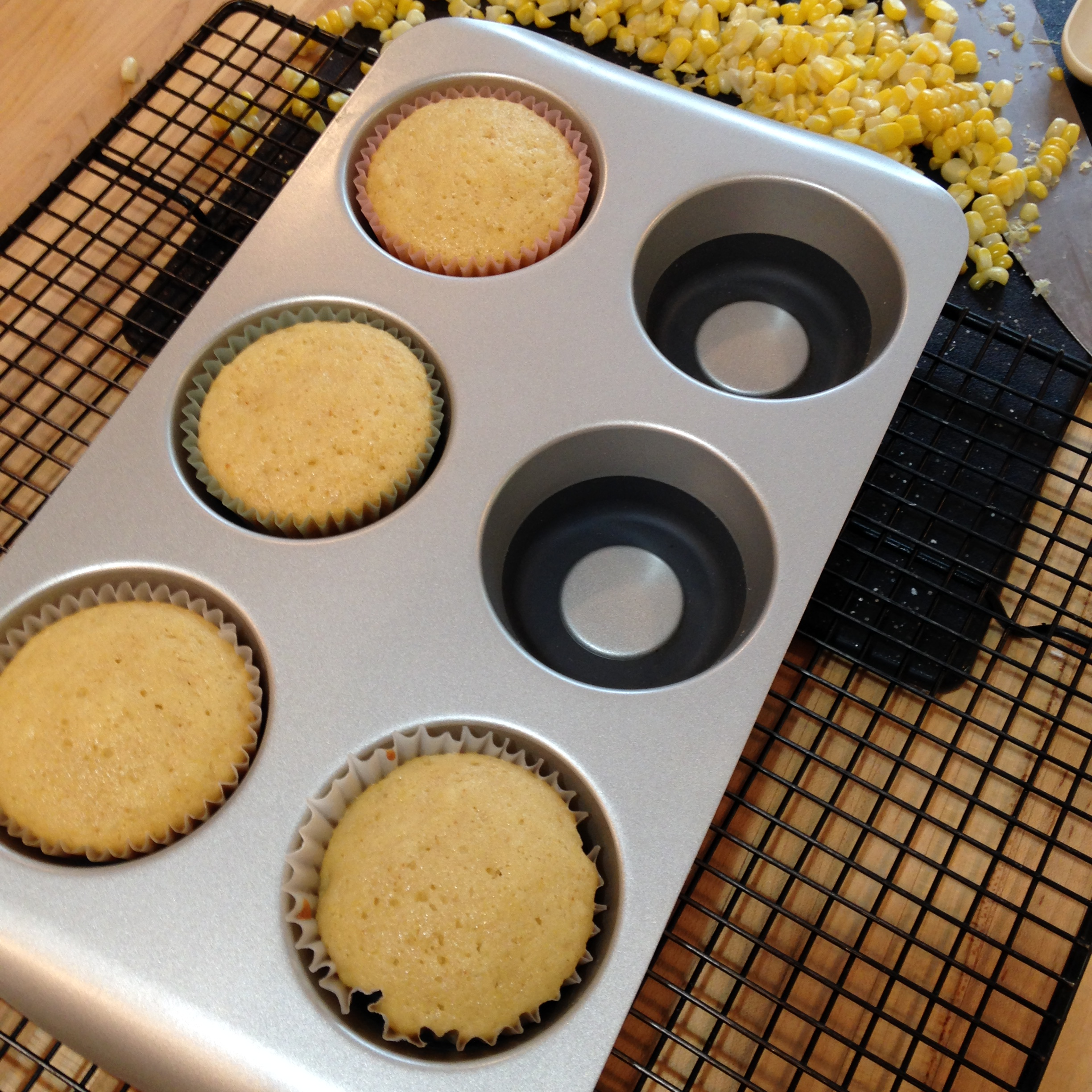 baked cupcakes in muffin tin