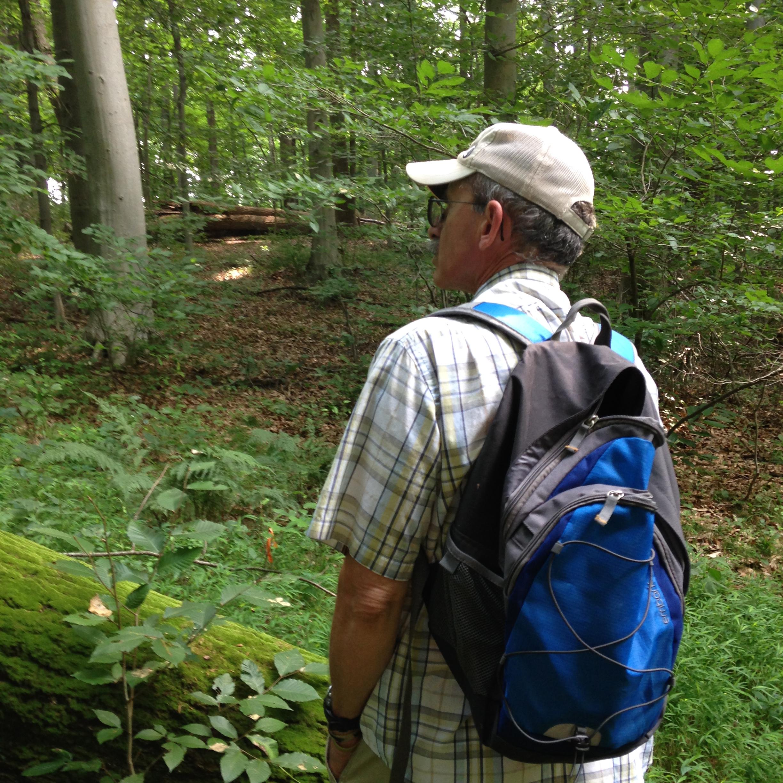 my husband on a hike
