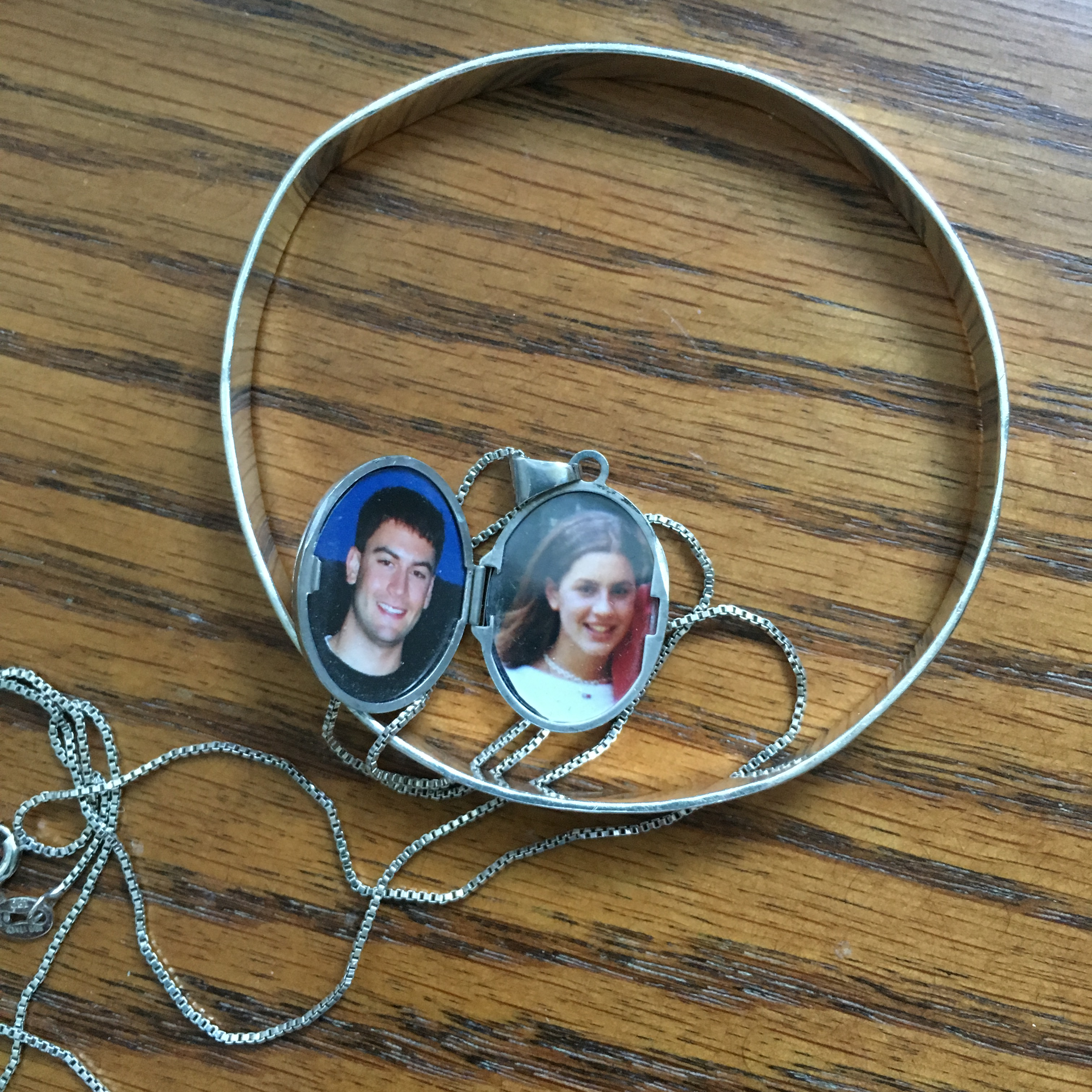 locket with kids photos in it