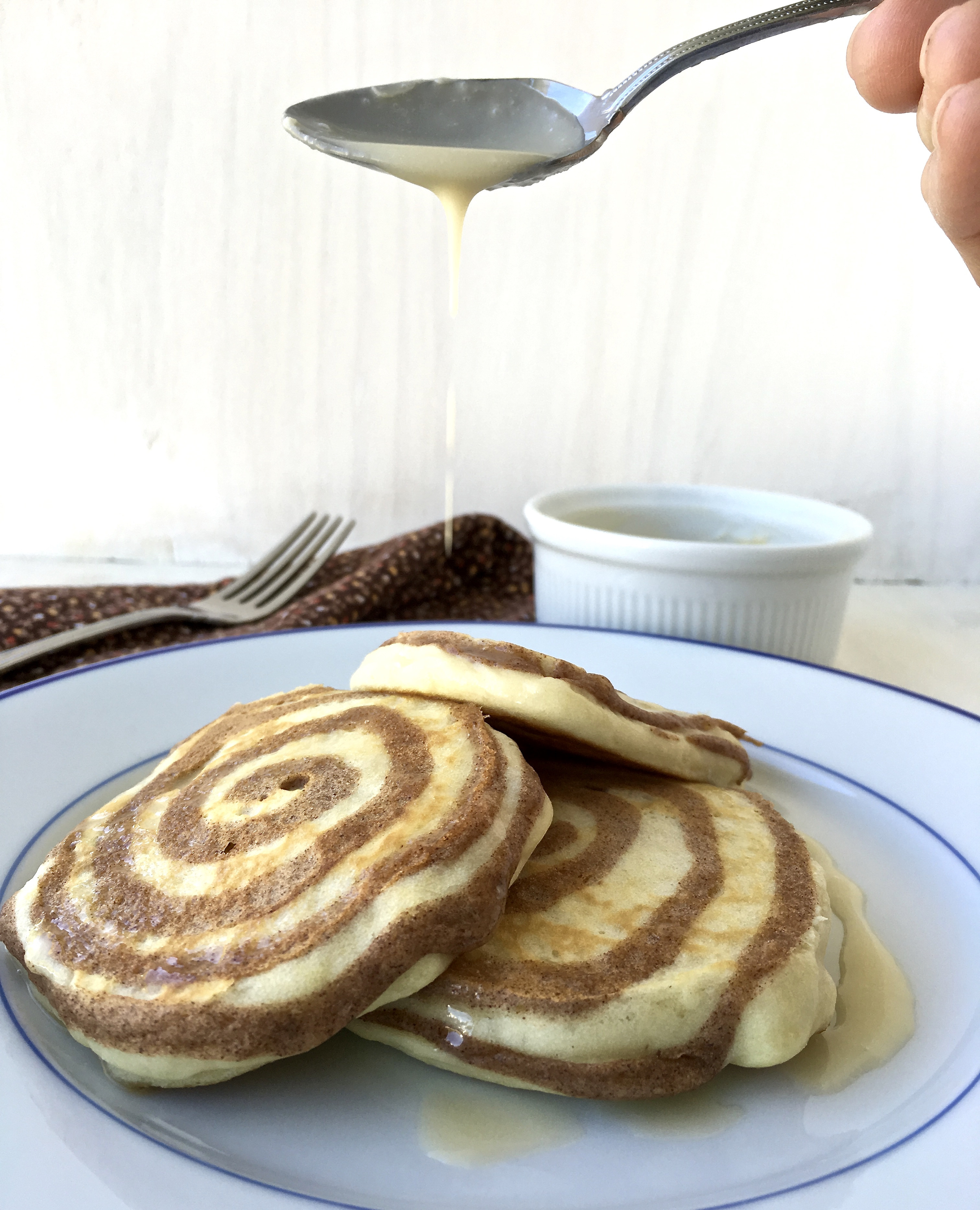 cinnabon pancakes and syrup