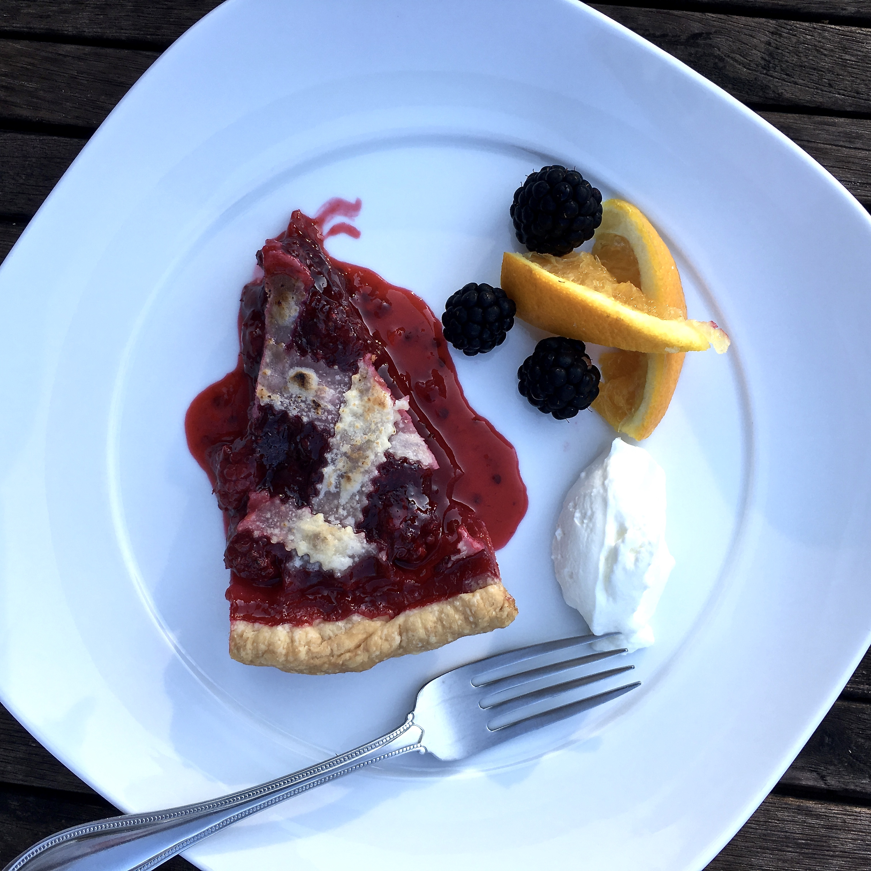 slice of berry pie