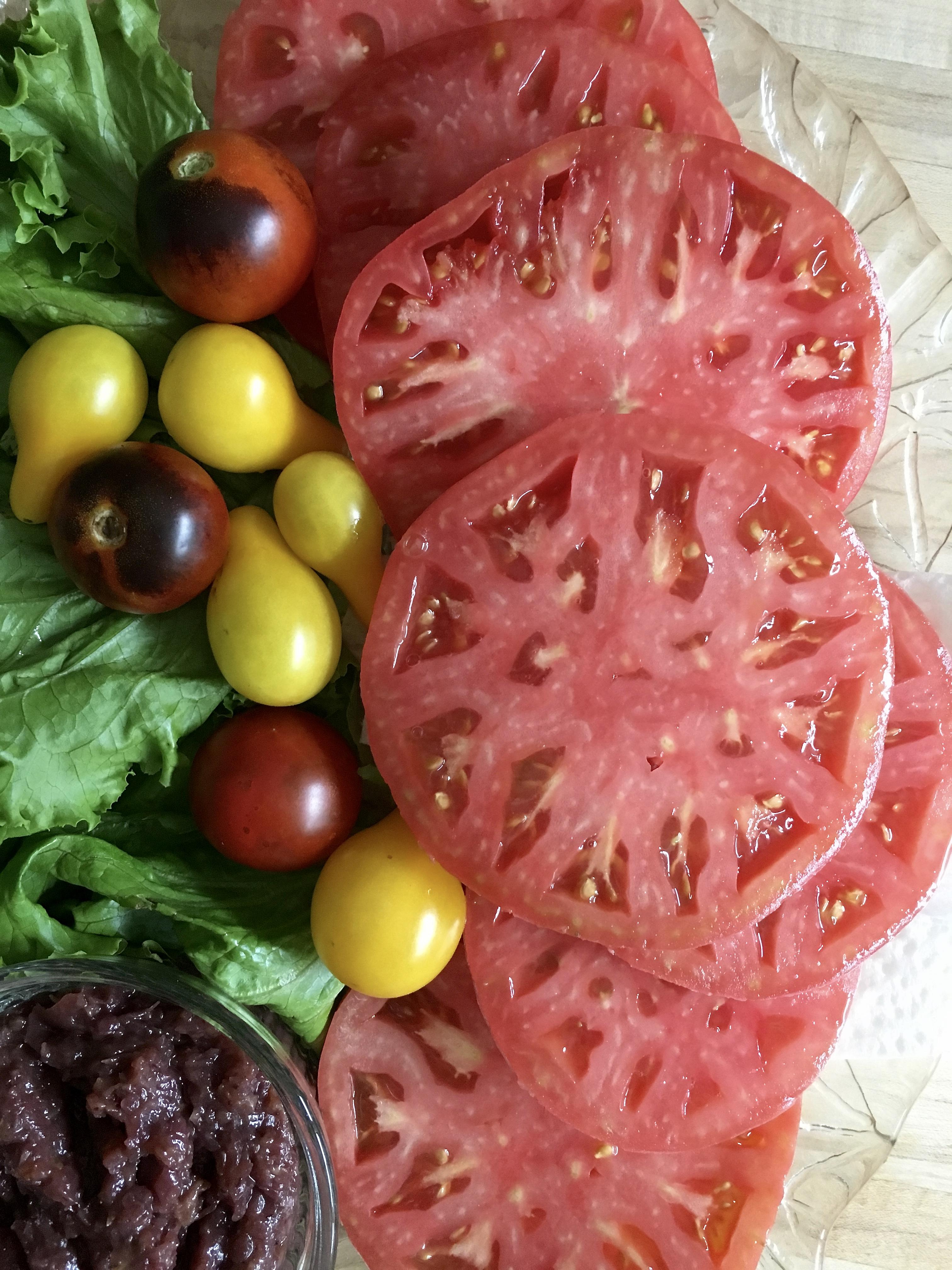 fresh sliced tomatoes