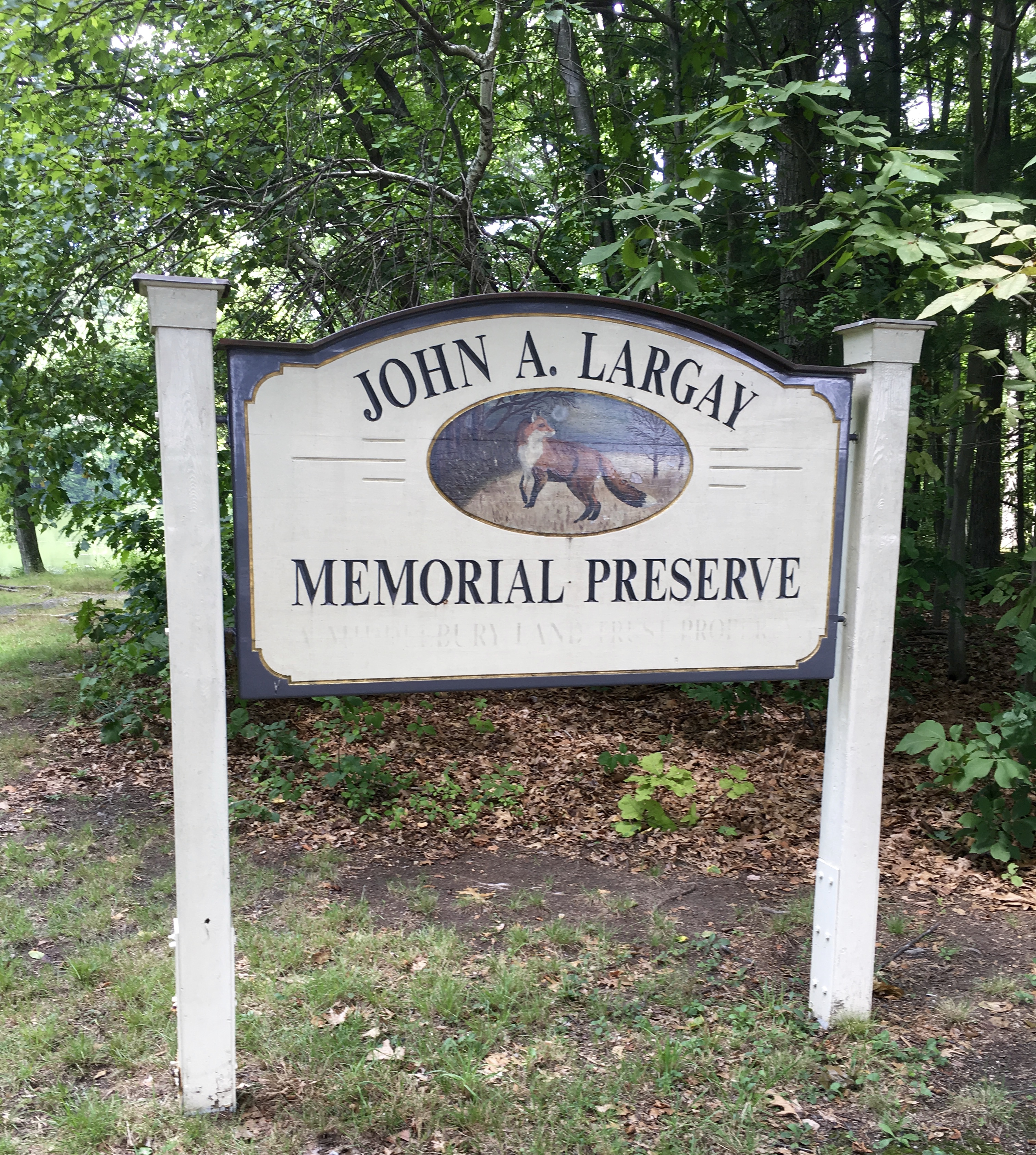 sign for memorial preserve