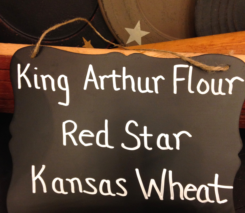 King Arthur Flour, Red Star and Kansas Wheat sign
