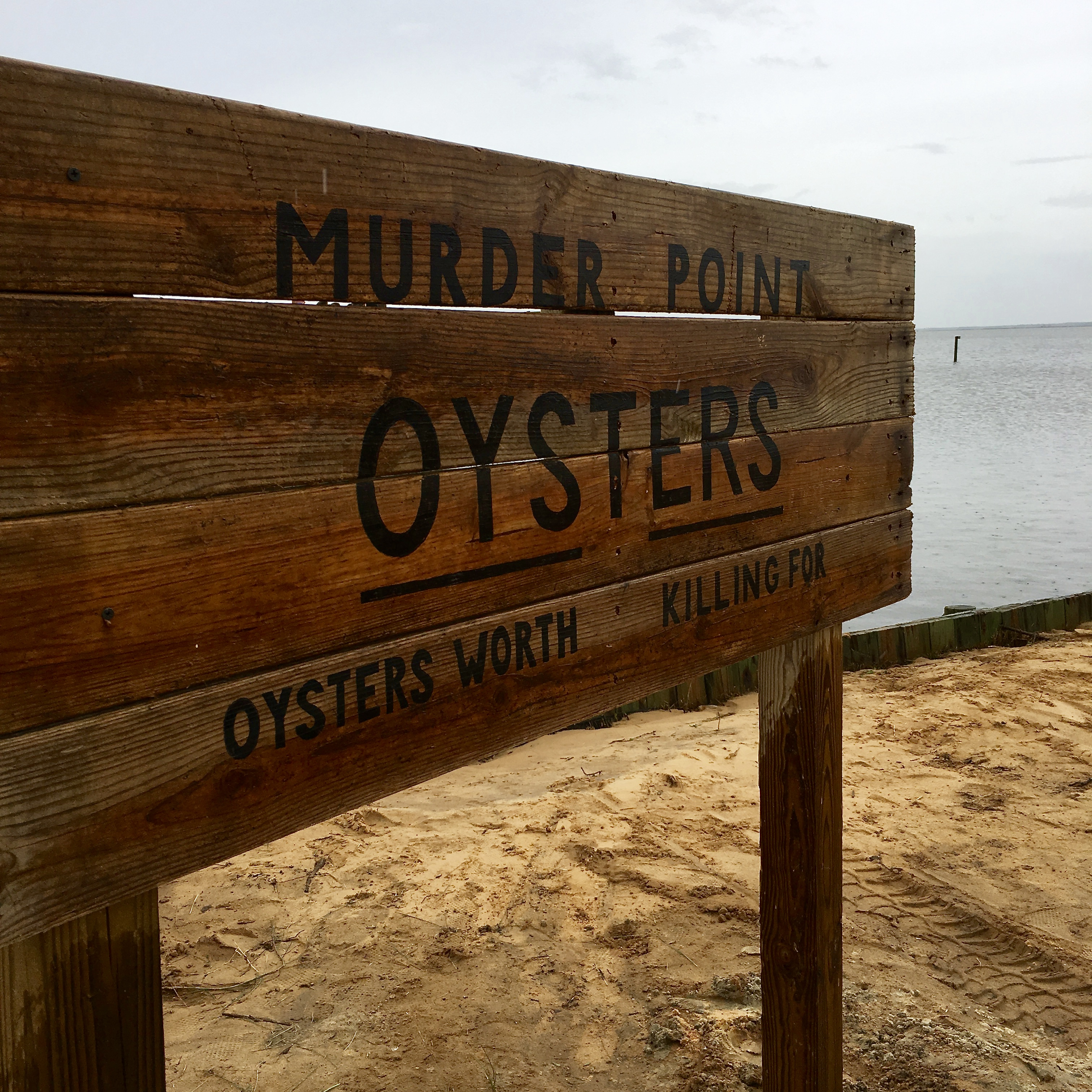Murder Point Oyster sign