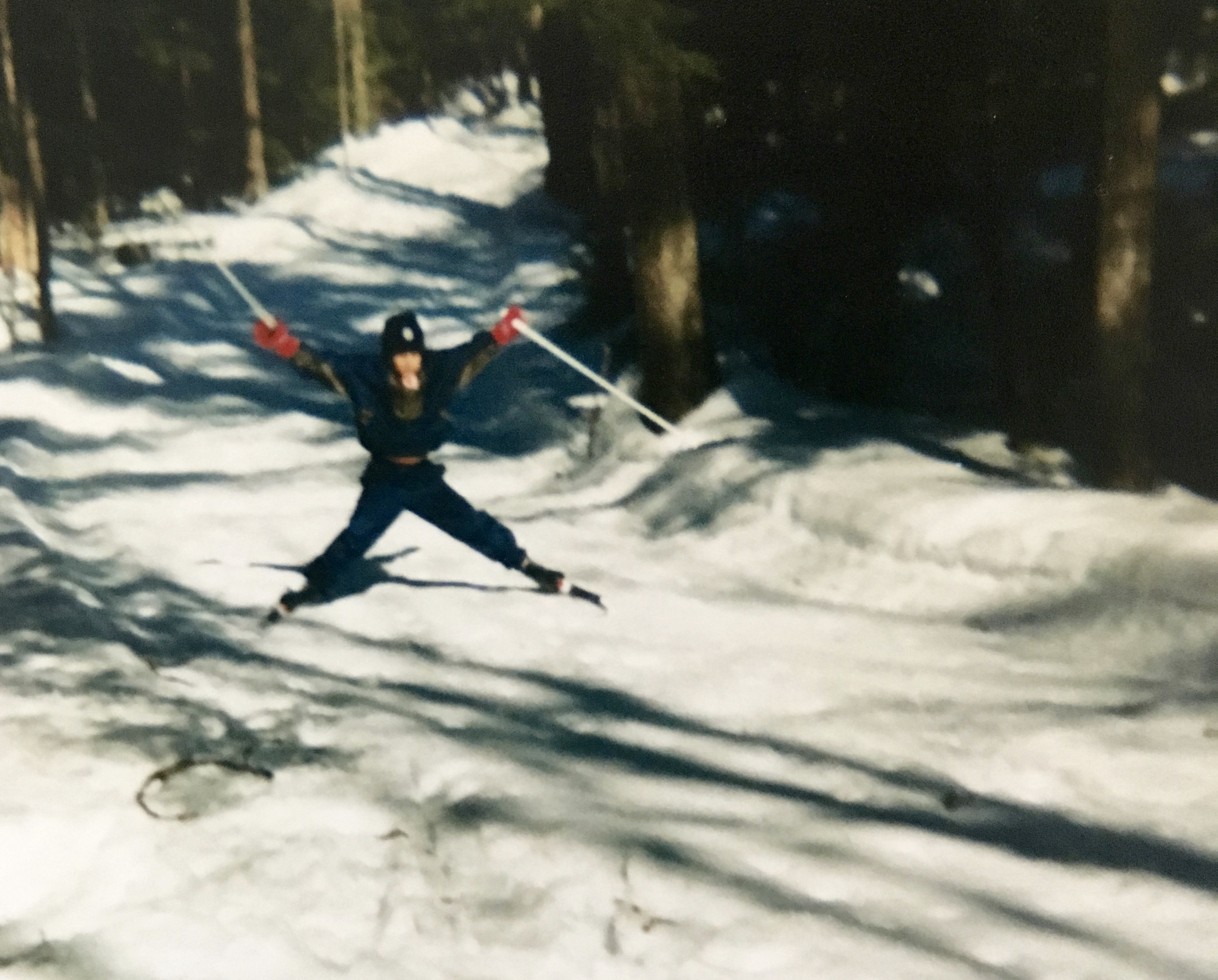 my son cross country skiing