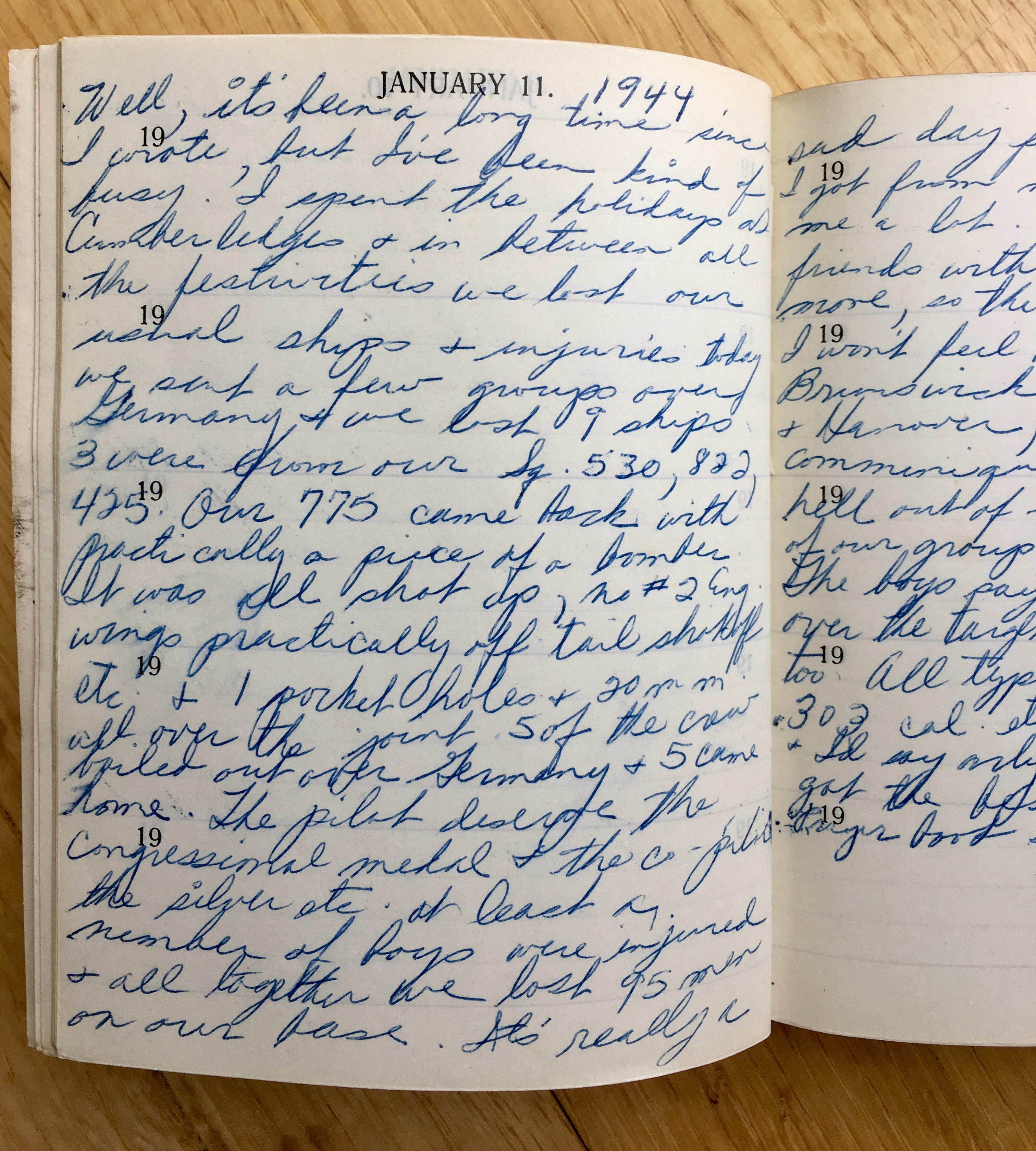 my dad's military diary
