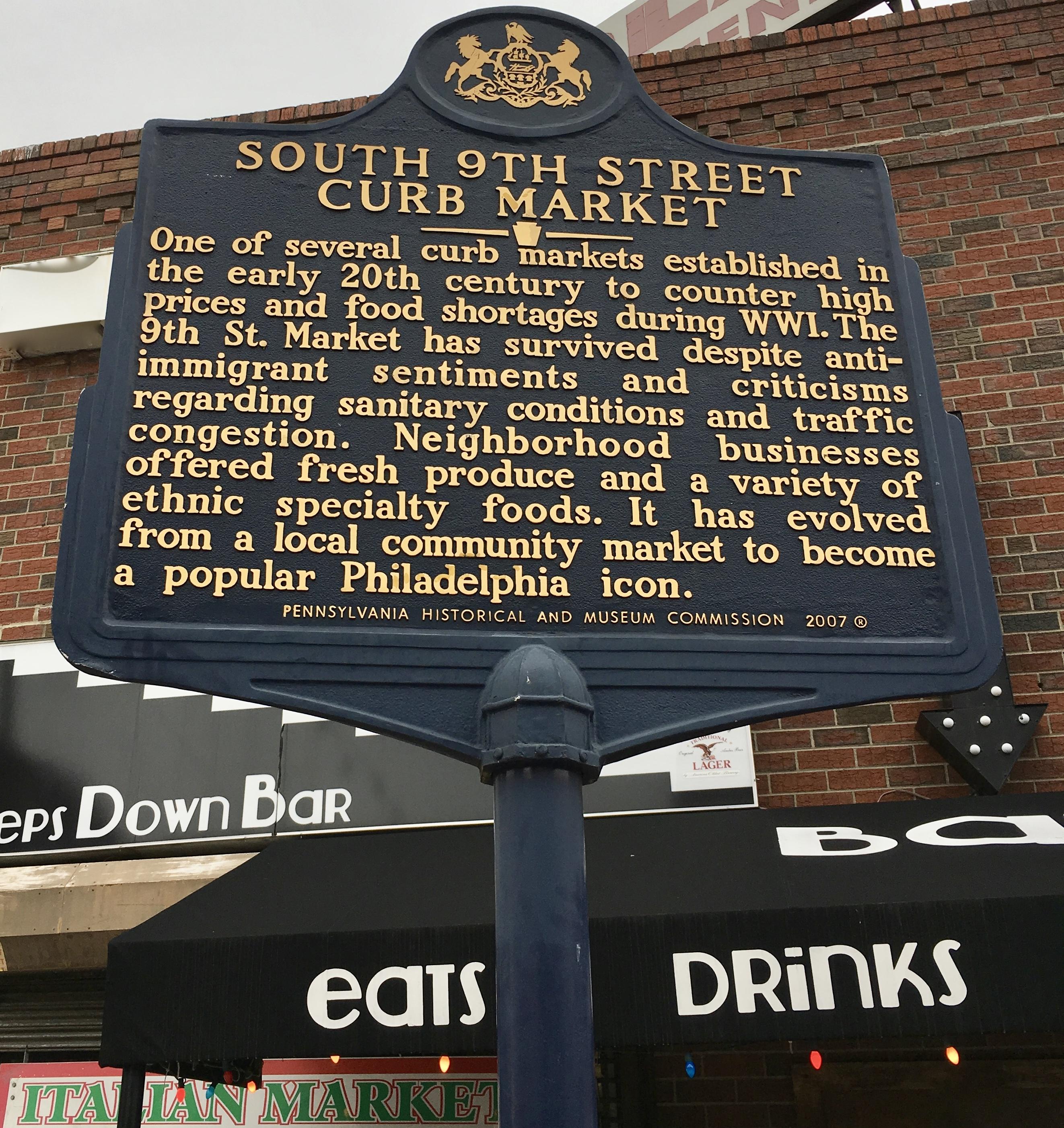 market sign