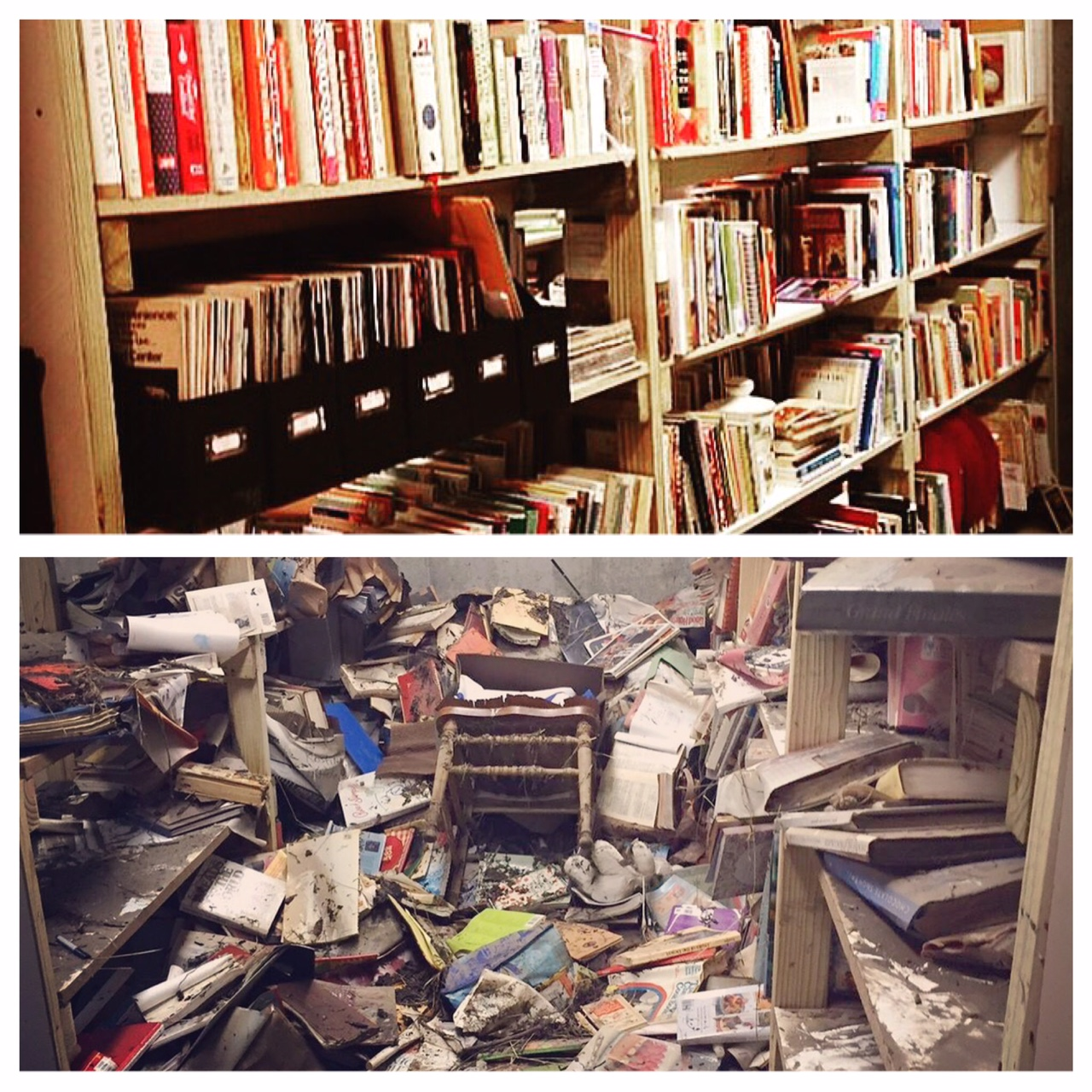 cookbooks before and after flood