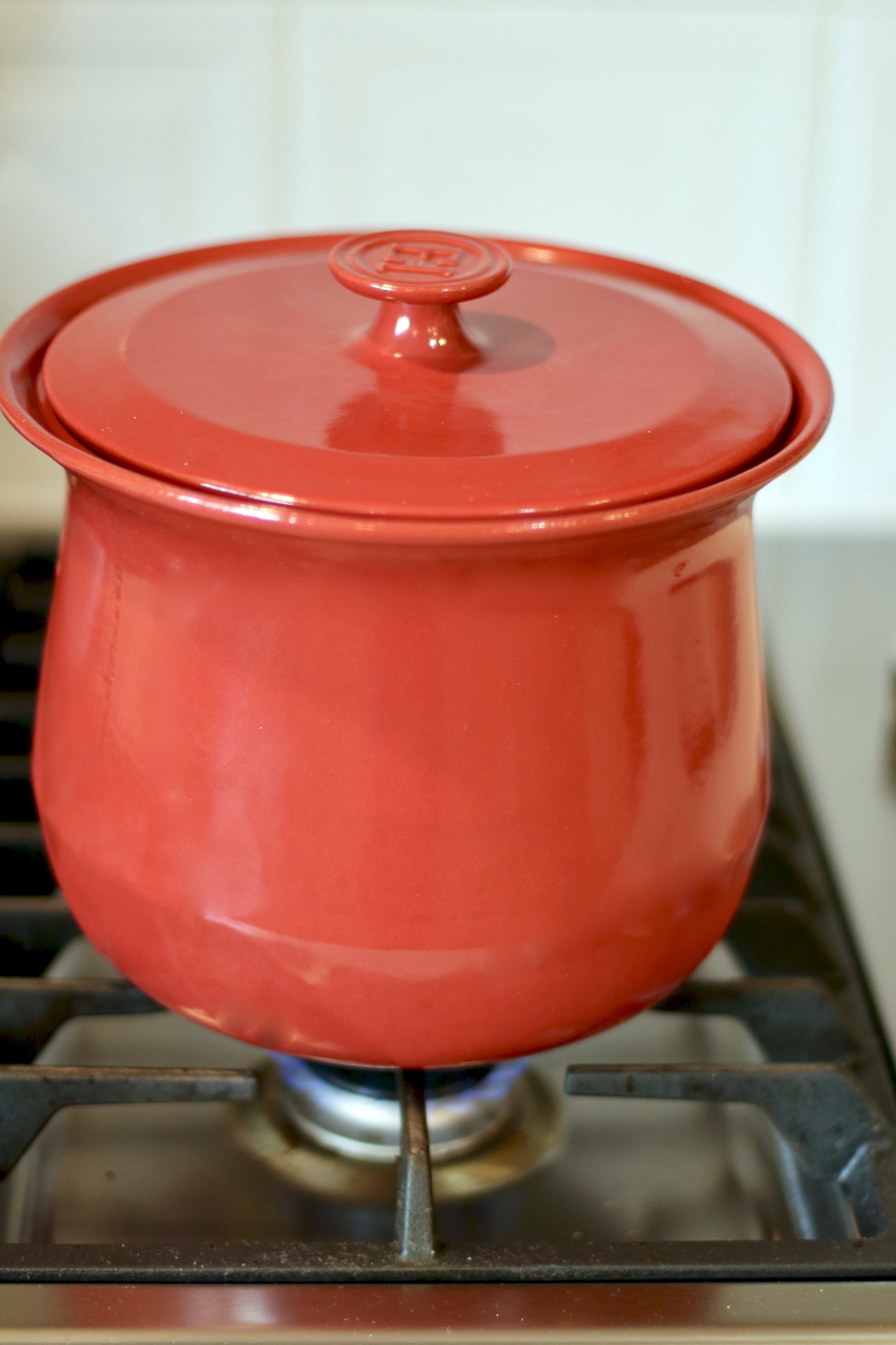 red stock pot