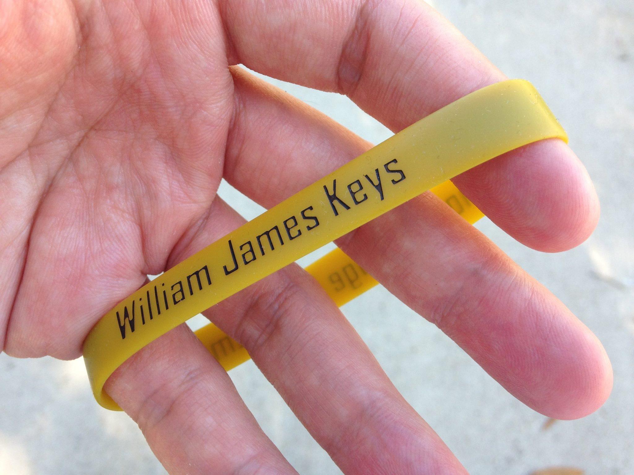 William James Keys memory bracelet