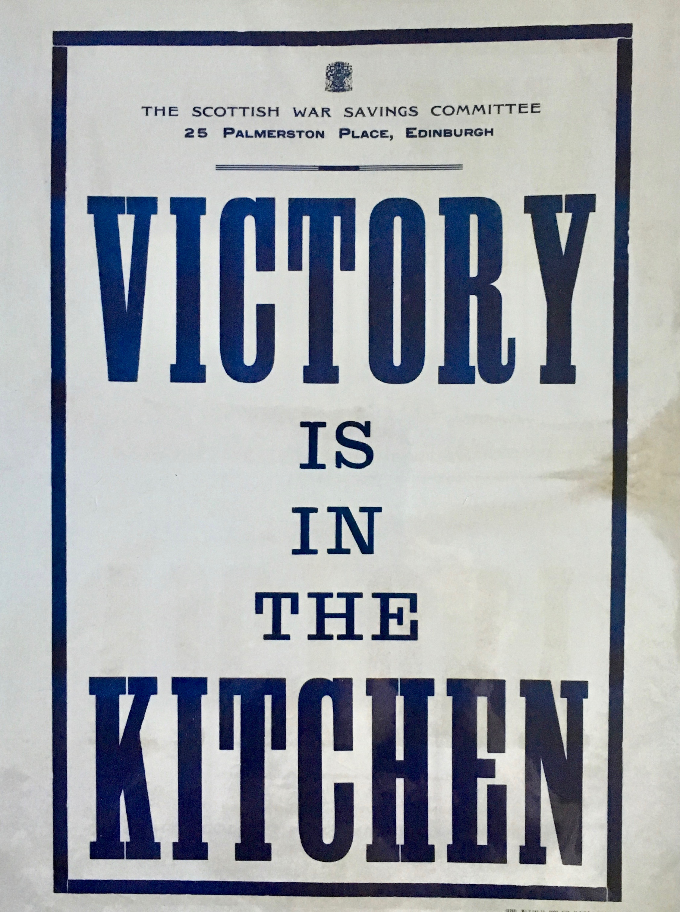 victory is in the kitchen poster