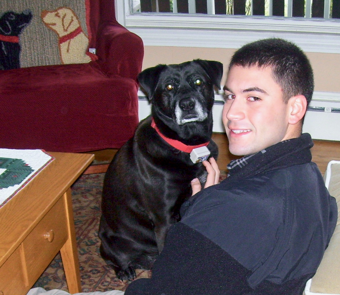 loved being home my son and dog