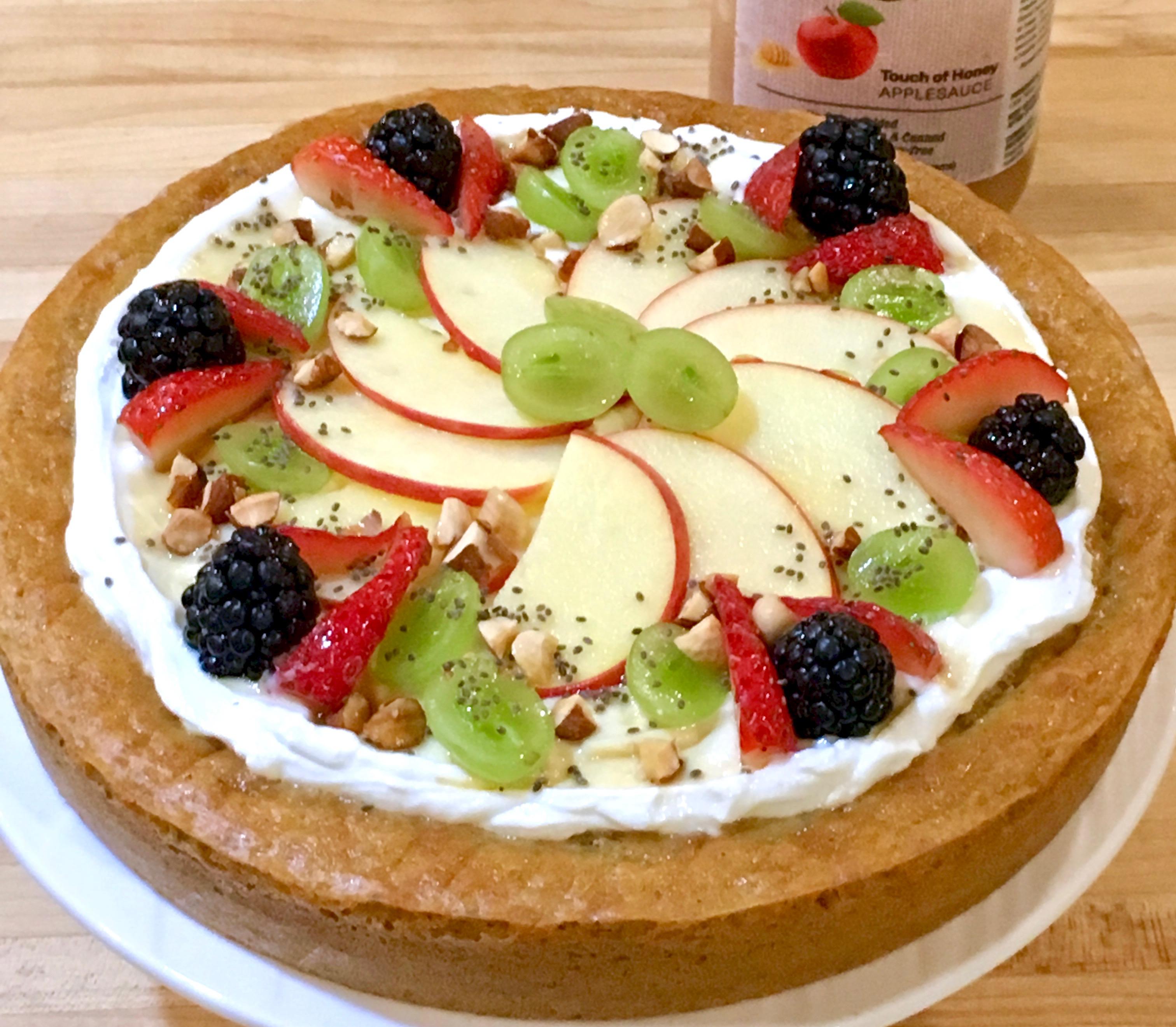 fresh fruit topped cake