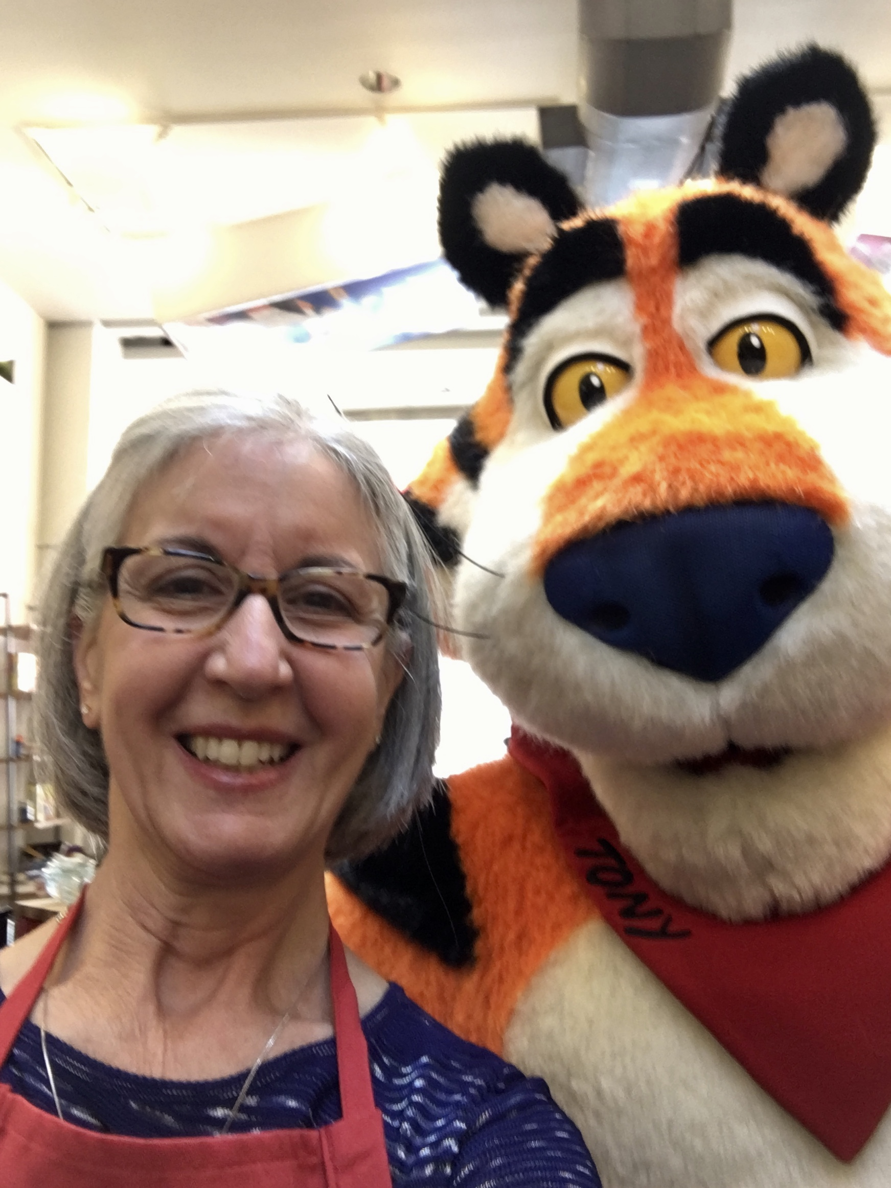 me with Tony the Tiger