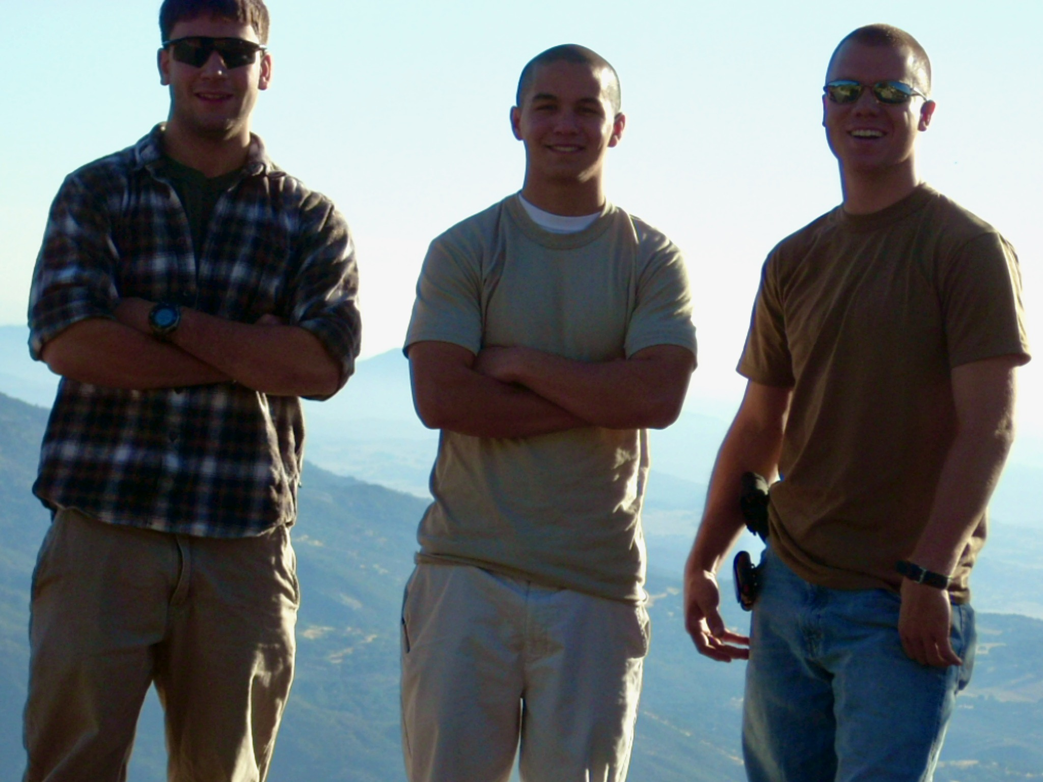 my son and two of his friends hiking together