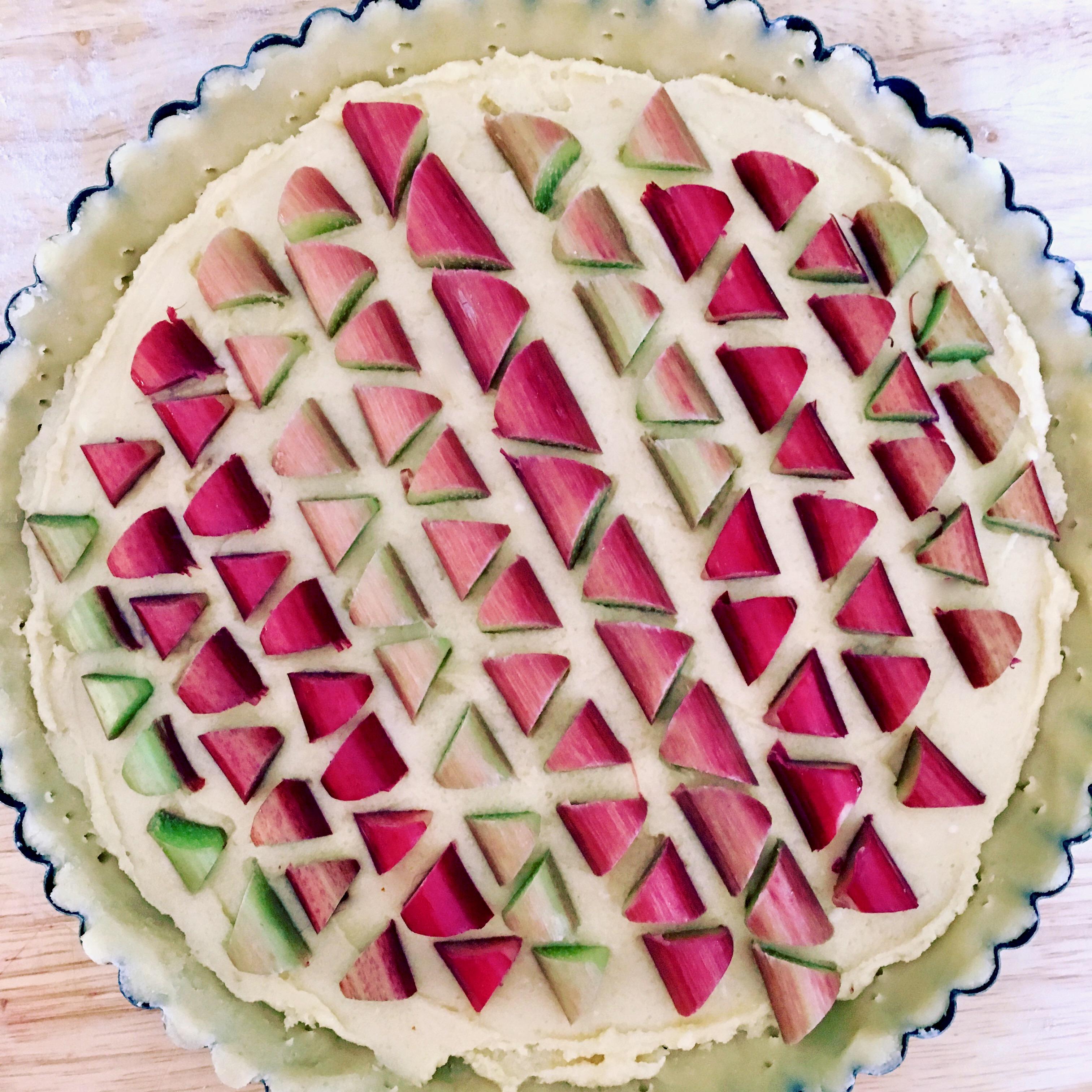 unbaked rhubarb tart