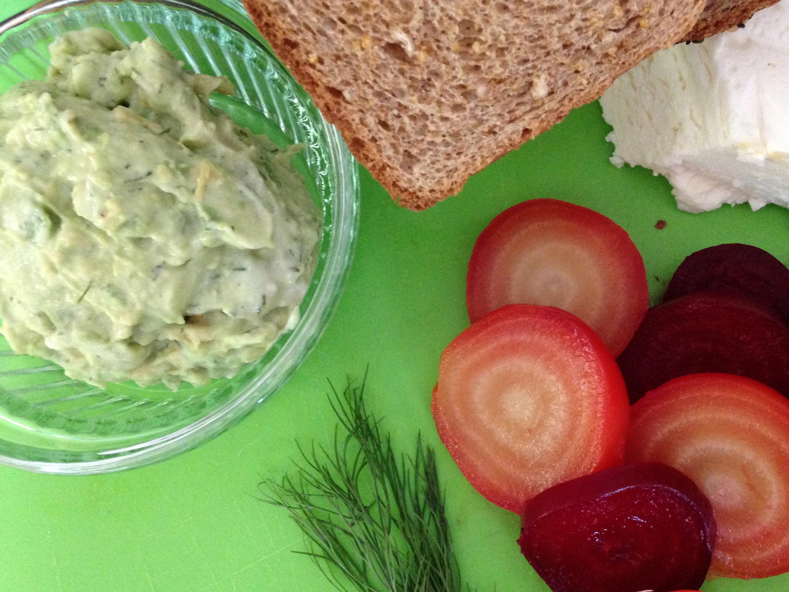 ingredients for beet sandwich