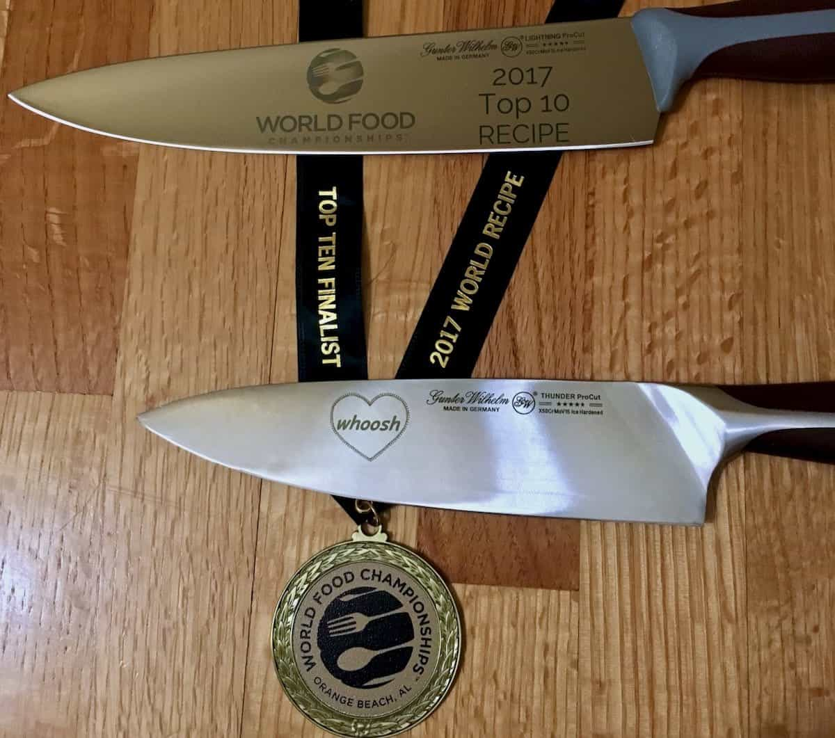 chef knives and medalist at the World Food Championships