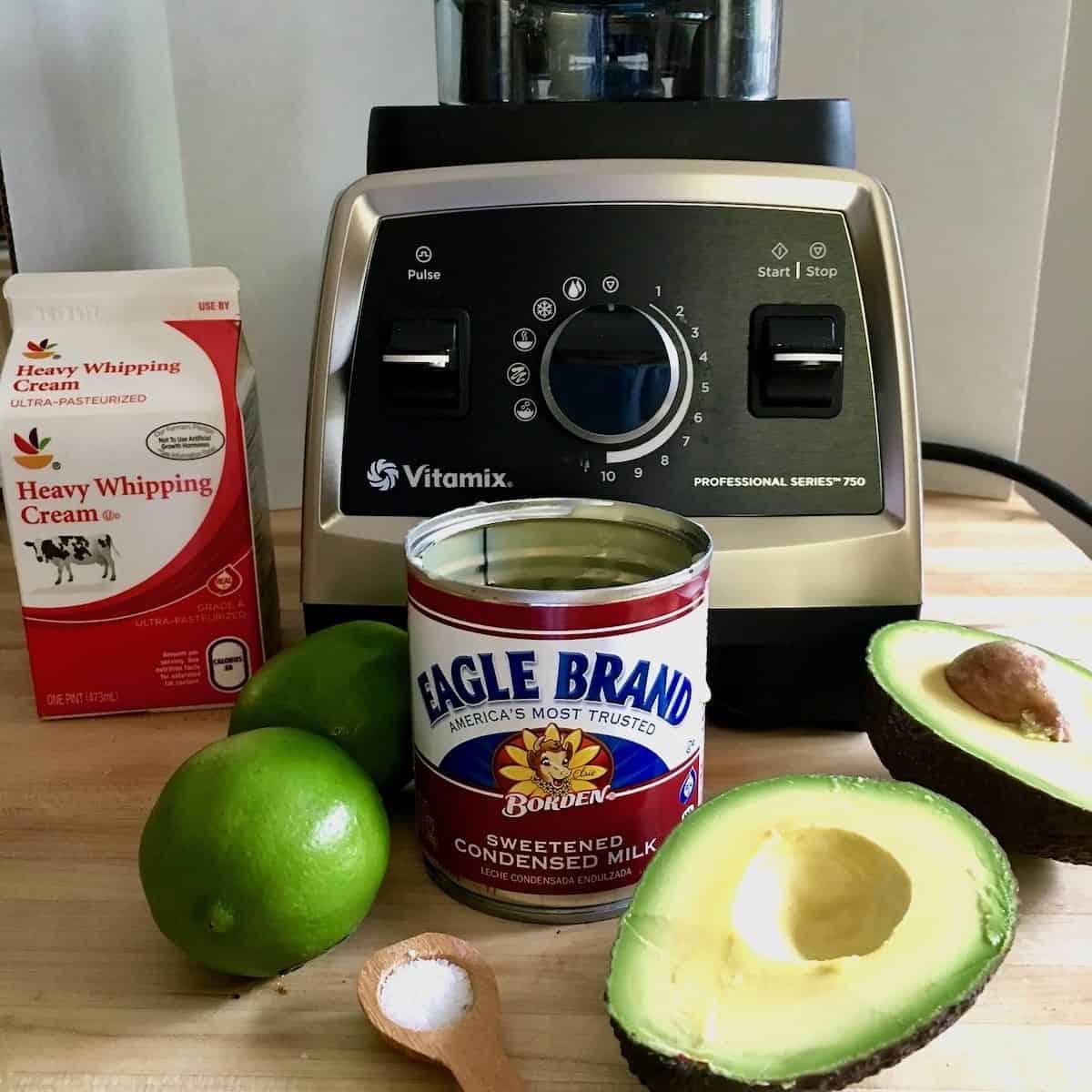 ingredients and blender