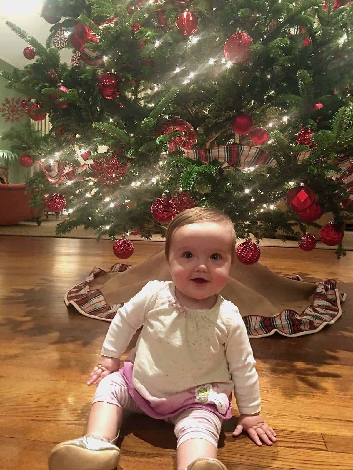baby Annabelle at Christmas