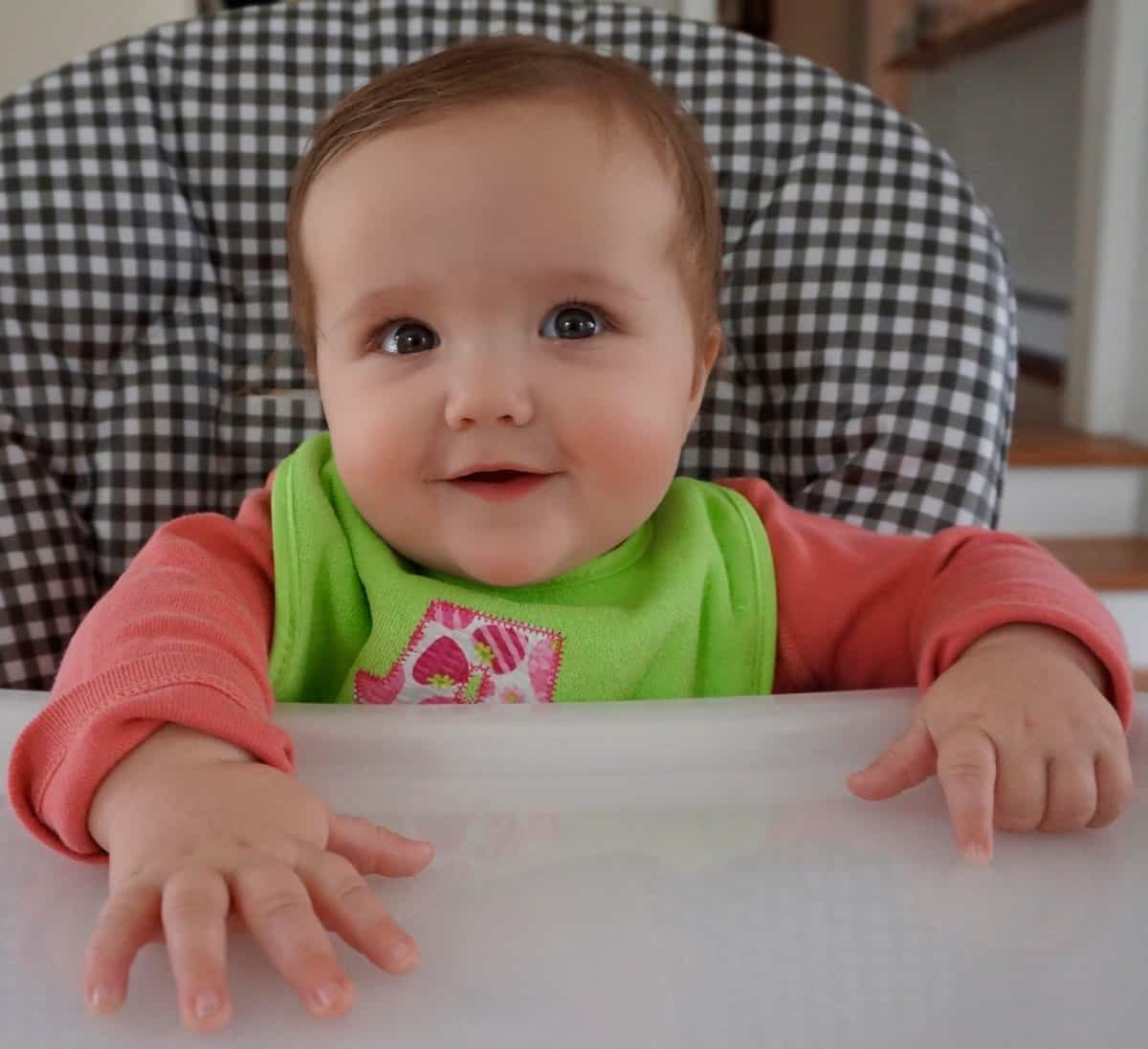 Annabelle in her high chair