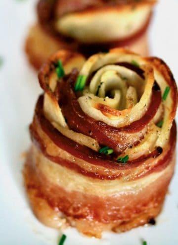 bacon potato roses