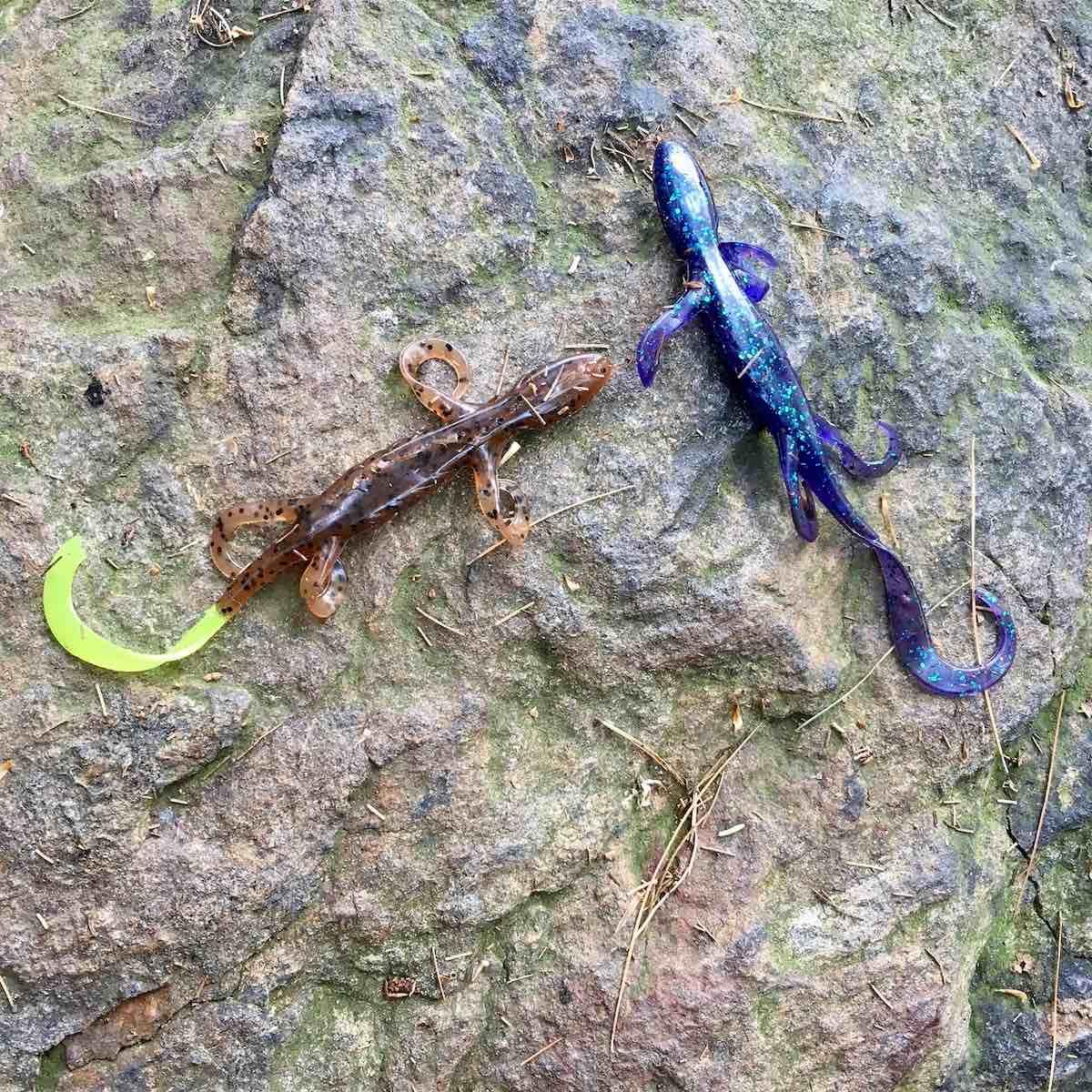 Lake Elise fishing gear left behind on a rock