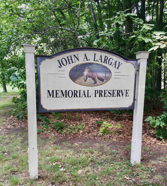 John Largay sign for memorial preserve