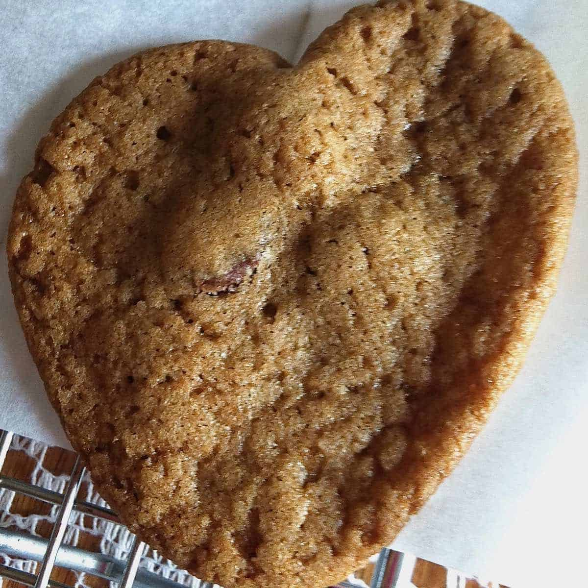 following in his light with a heart shaped cookie