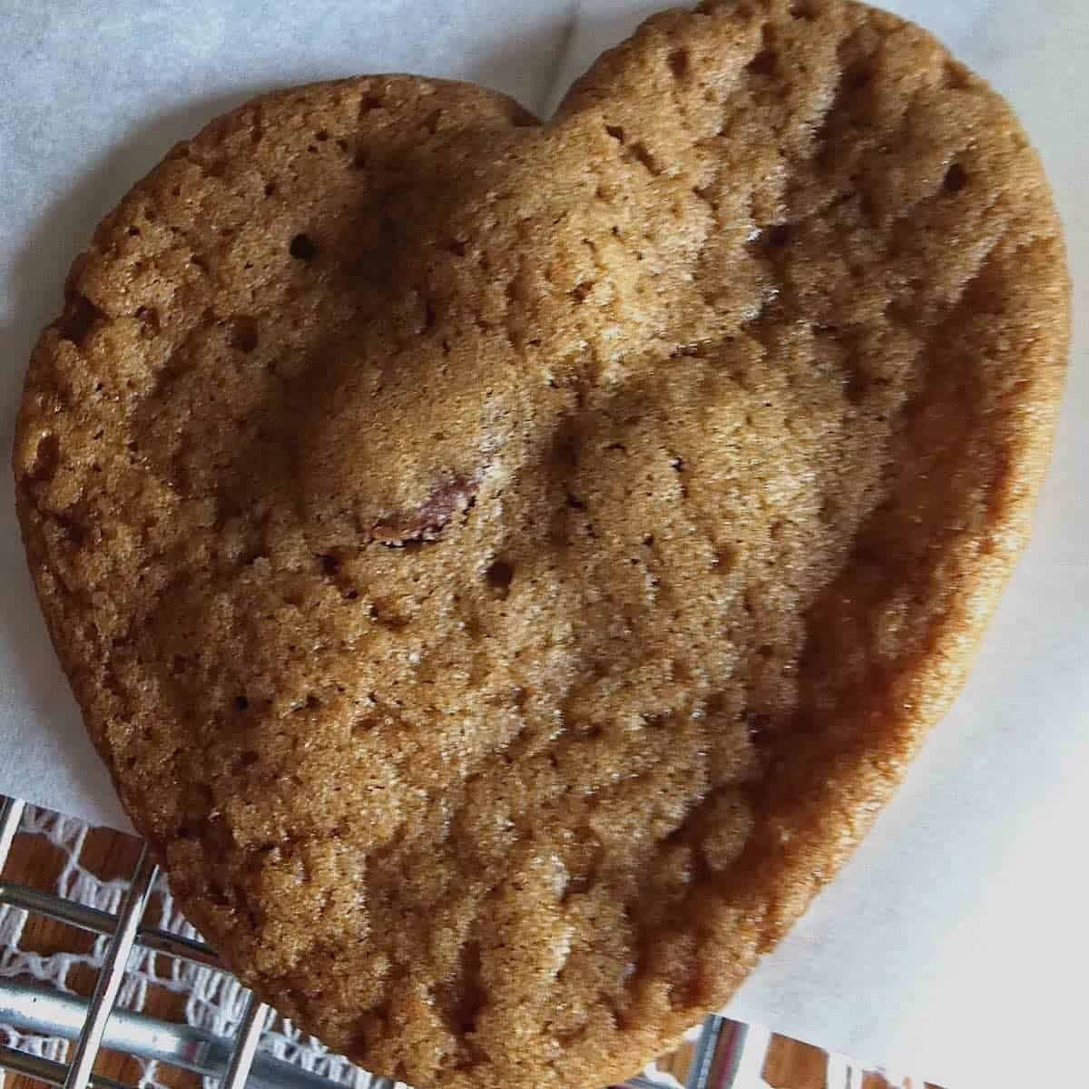 your favorite recipe is a heart shaped chocolate chip cookie