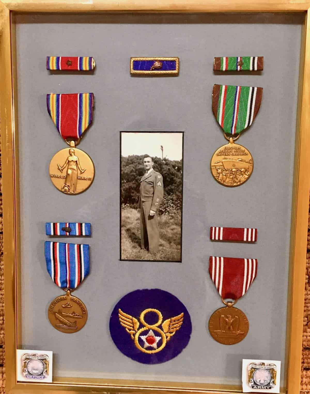 my dads military medals