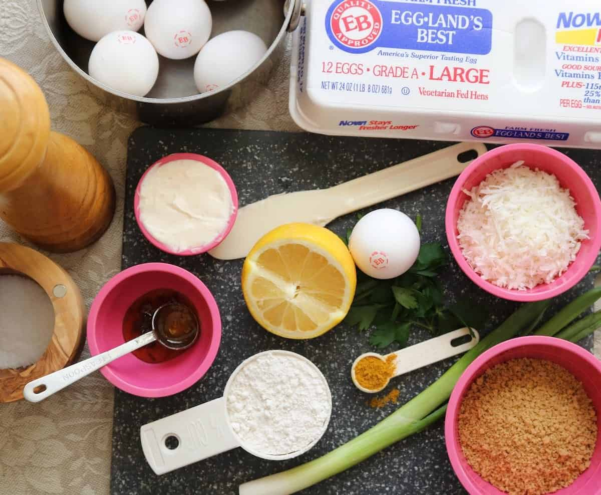 ingredients for crispy coconut curried devils