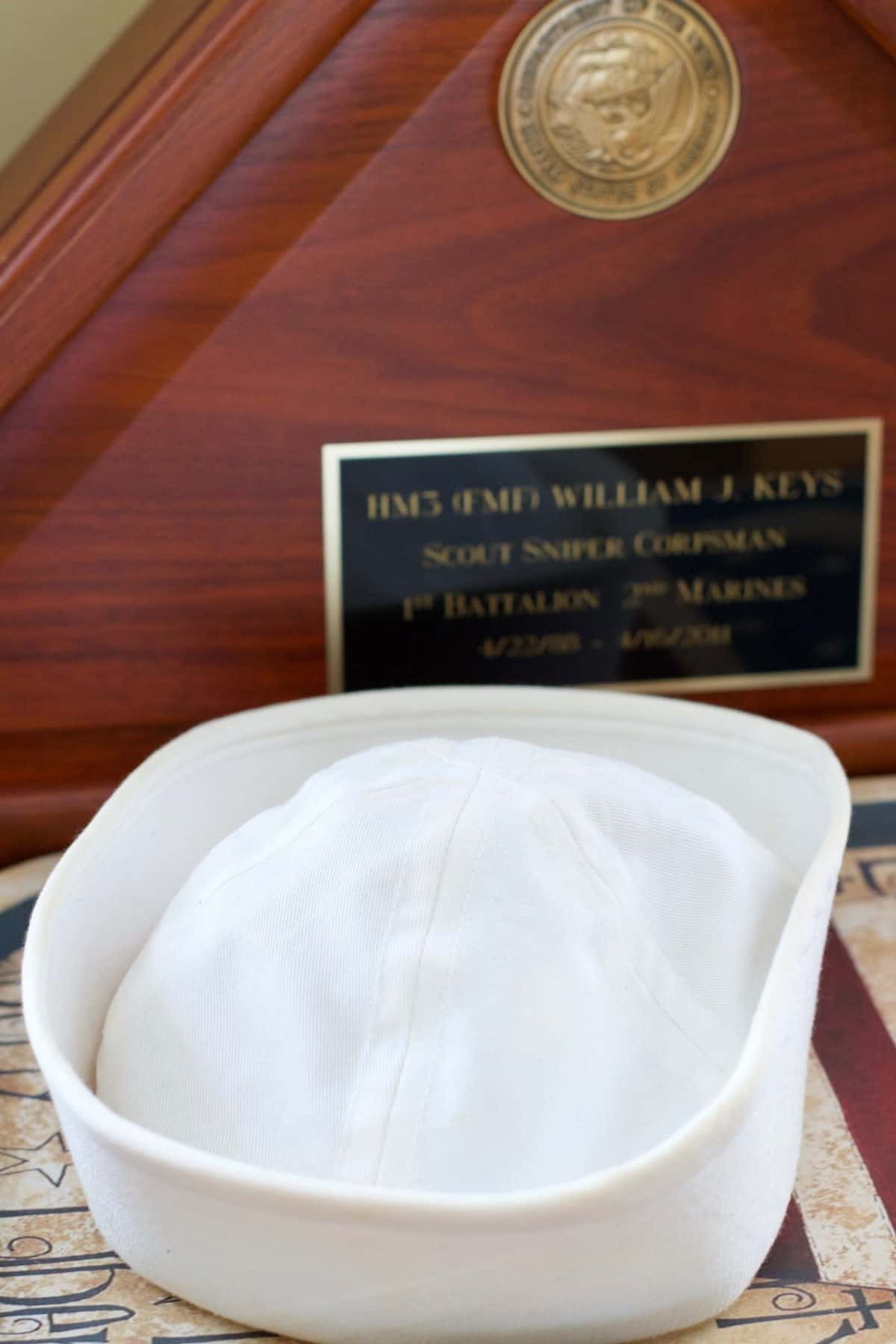 white sailor cap is one of my favorites of the many hats he wore