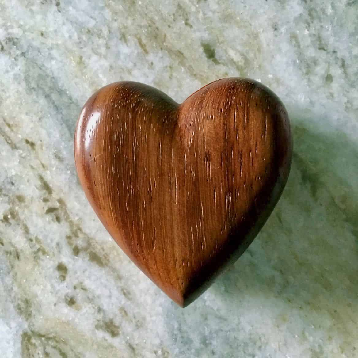 the heart knows goodness wooden heart box