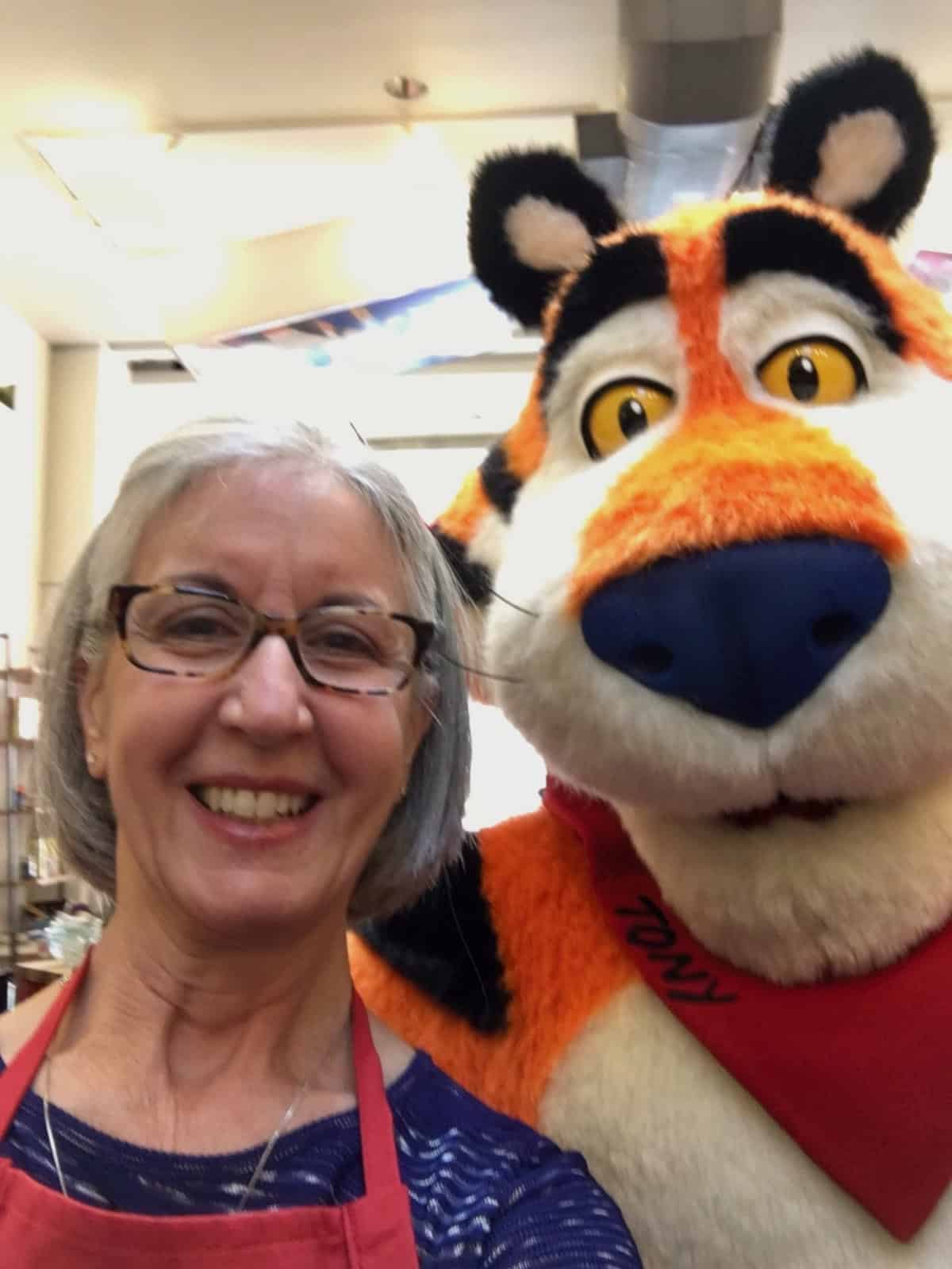 Thanks in 2018 for Kellog's competition me with Tony the Tiger