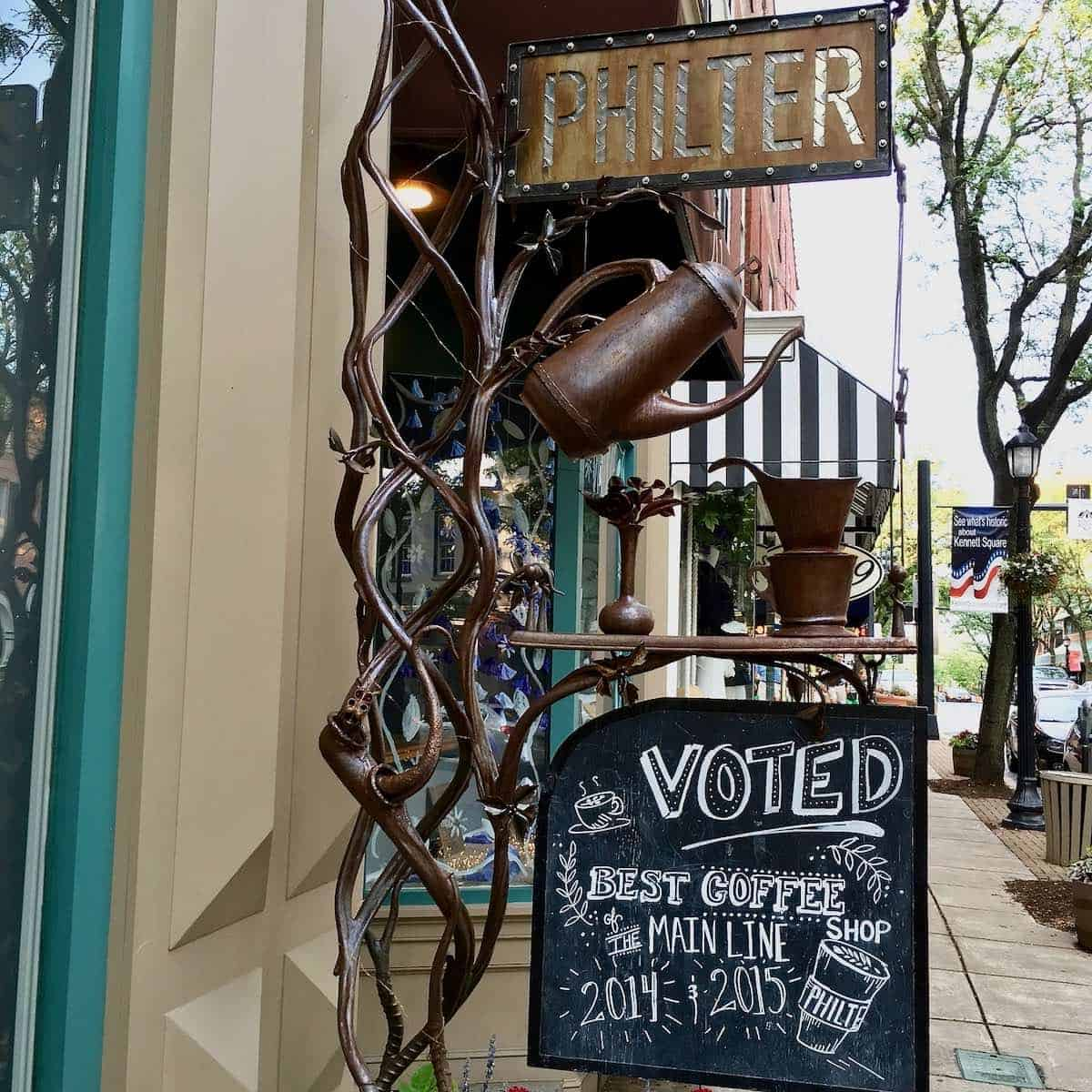 Philter coffee shop sign