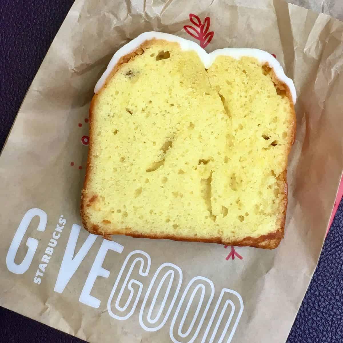 Starbucks lemon cake slice