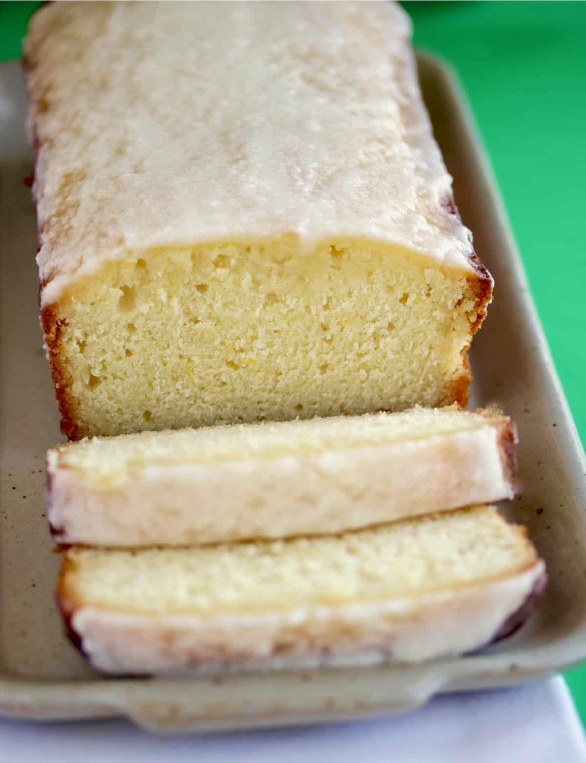 sliced lemon cake