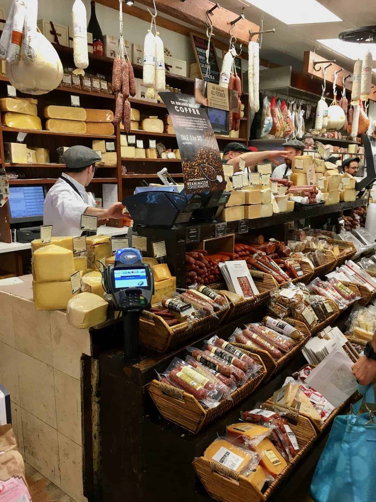 Italian market  cheese shop
