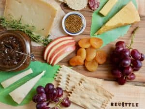 revile fruit and cheese display