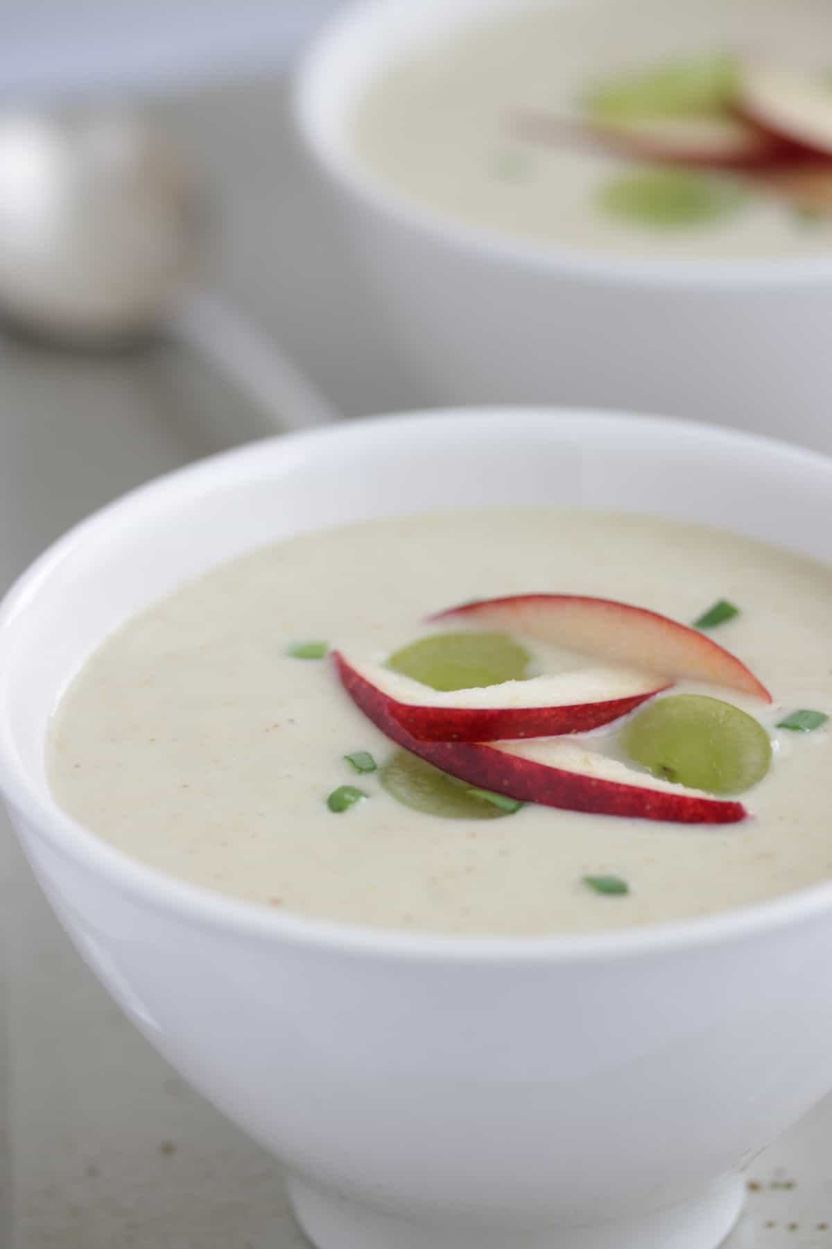 apple soup in a bowl