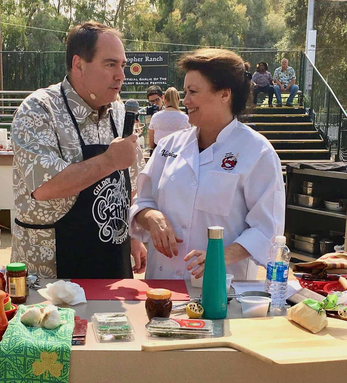 friend competing at Gilroy garlic cookoff