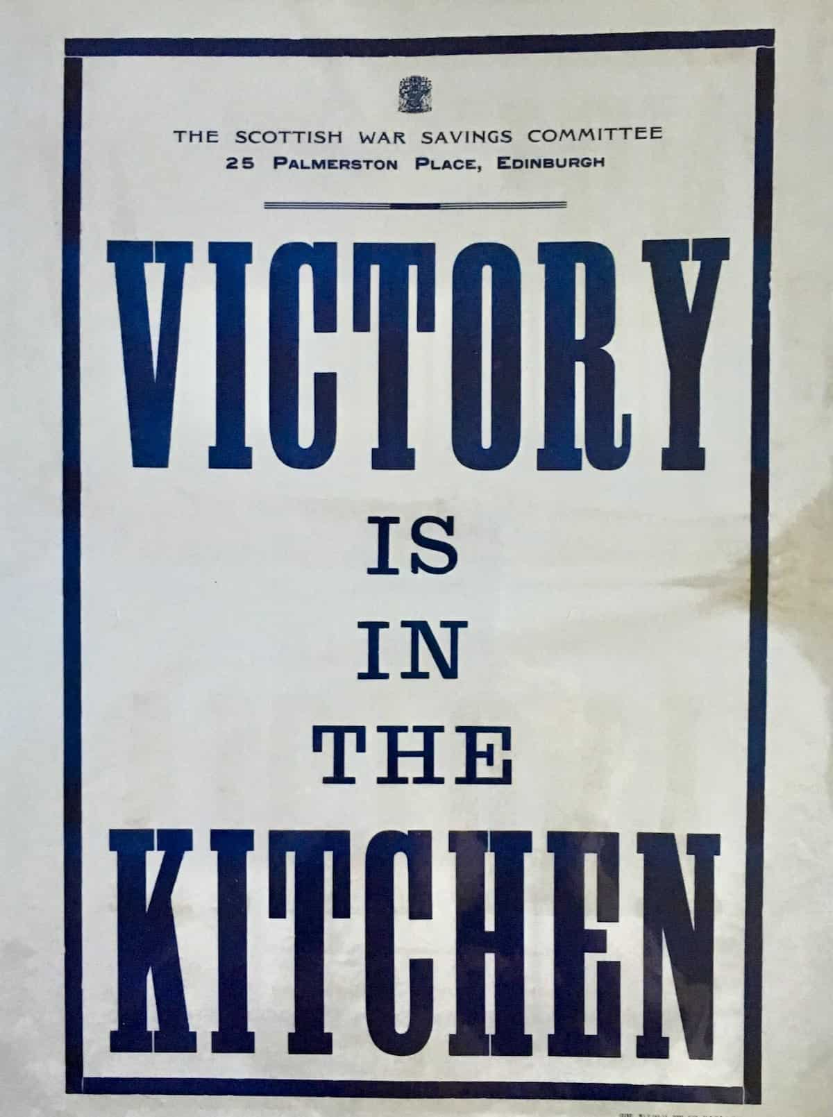 Poster says Victory is in the Kitchen