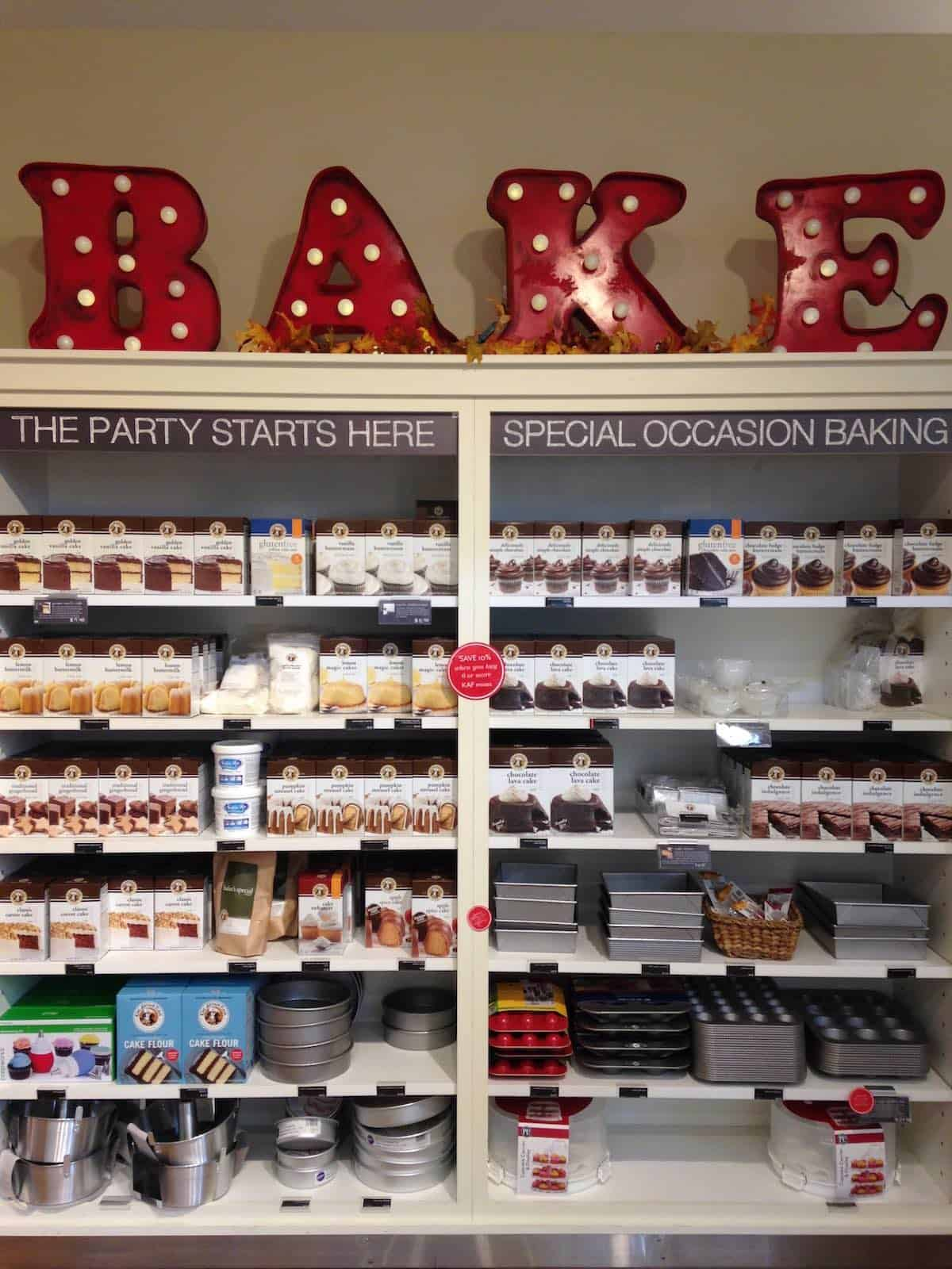 King Arthur Flour store display